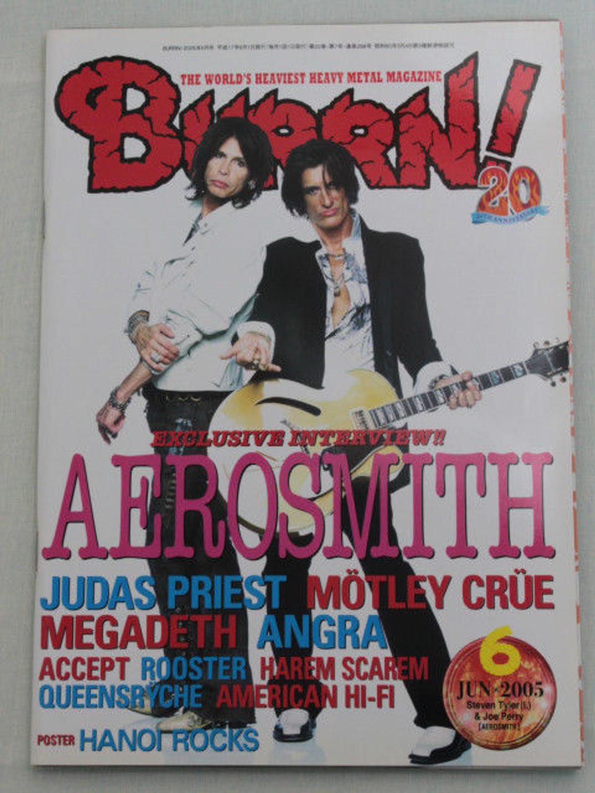 2005/06 BURRN! Japan Magazine AEROSMITH/ANGRA/MOTLEY CRUE/QUEENSRYCHE/MEGADETH