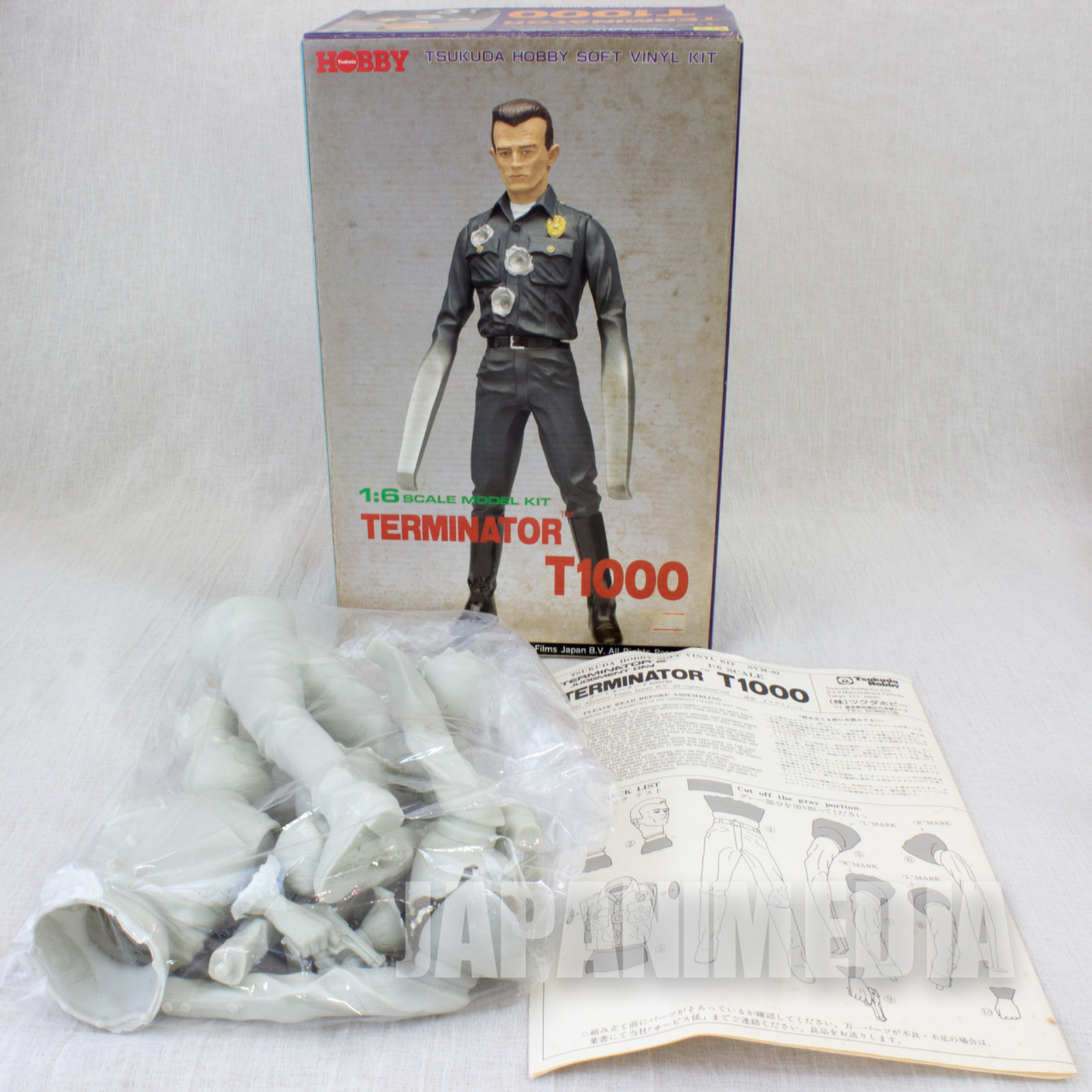 Terminator T1000 1/6 Scale Soft Vinyl Model Kit Tsukuda Hobby JAPAN