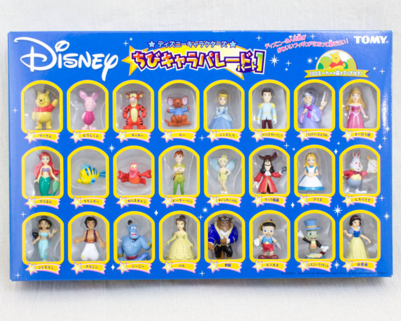 Disney Characters Chibi Chara Parade Vol.1 Mascot Figure 24pc set Tomy JAPAN [NEW]