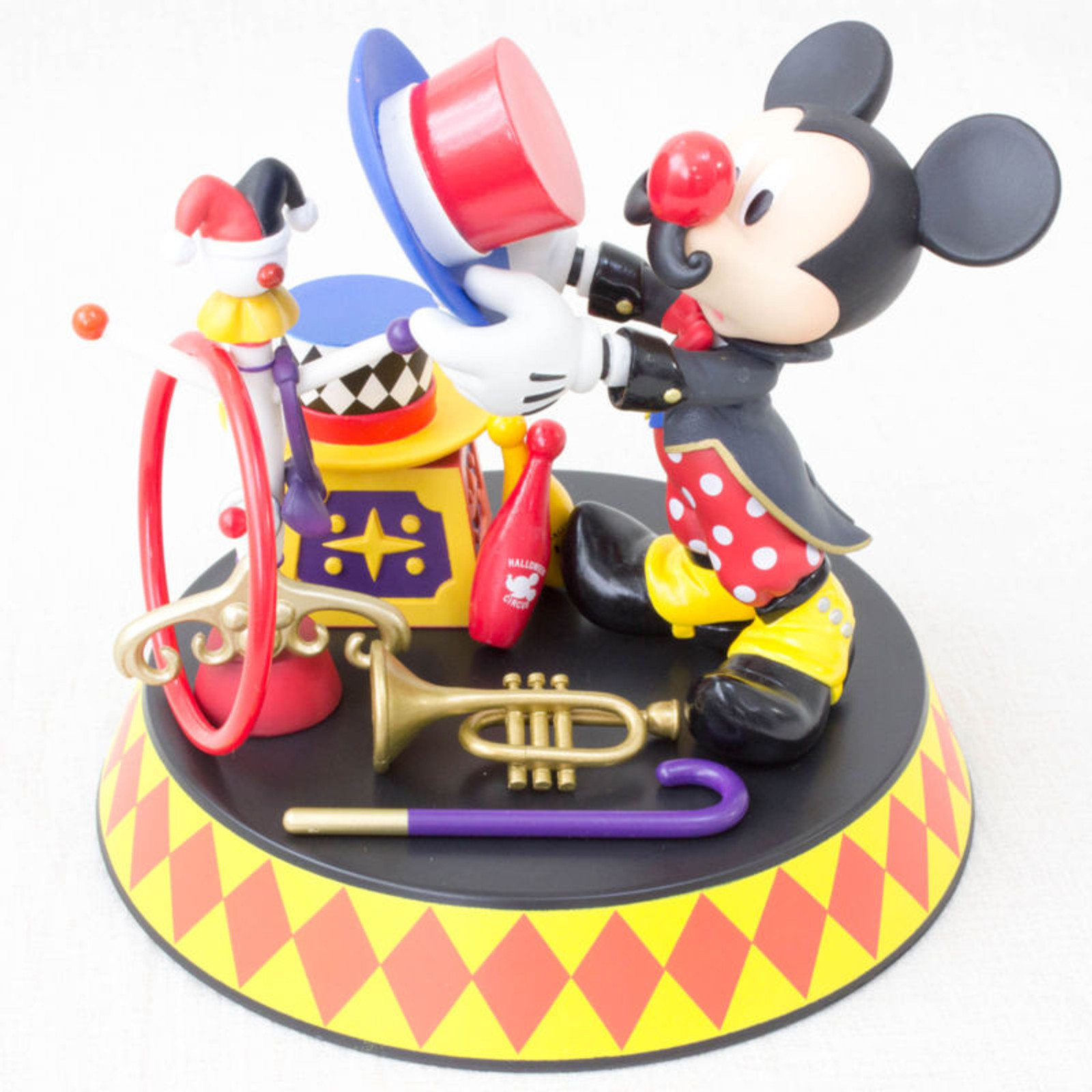 Disney Mickey Mouse Accessories Stand Figure Halloween Circus Banpresto JAPAN