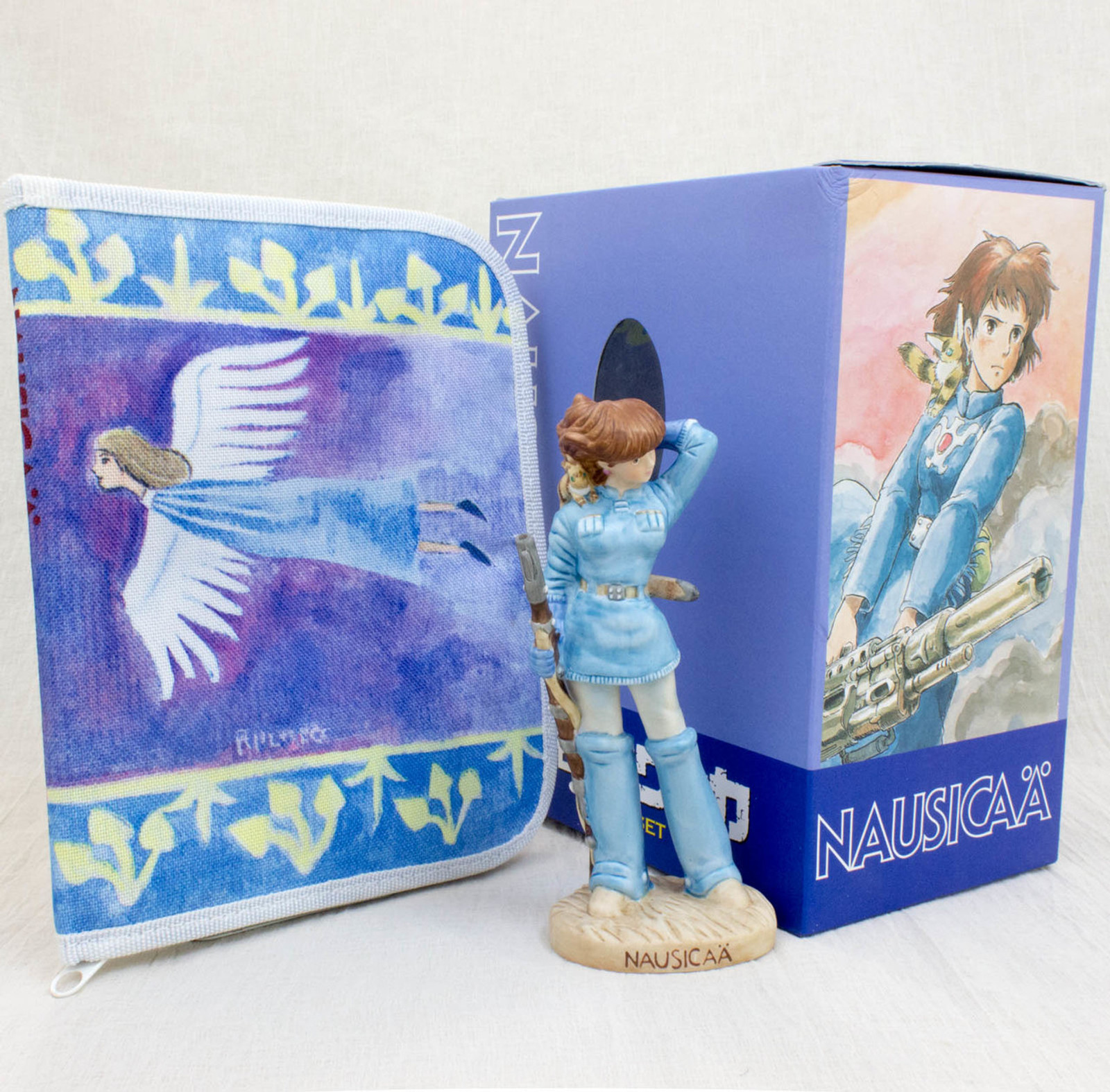 Nausicaa of the Valley of the Wind Ceramic Figure & DVD Case Pouch Ghibli