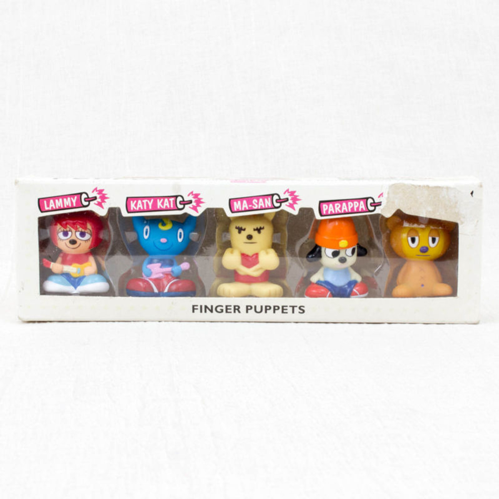 Parappa The Rapper Umjammer Lammy All Star Finger Puppet 5pc Set Figure JAPAN
