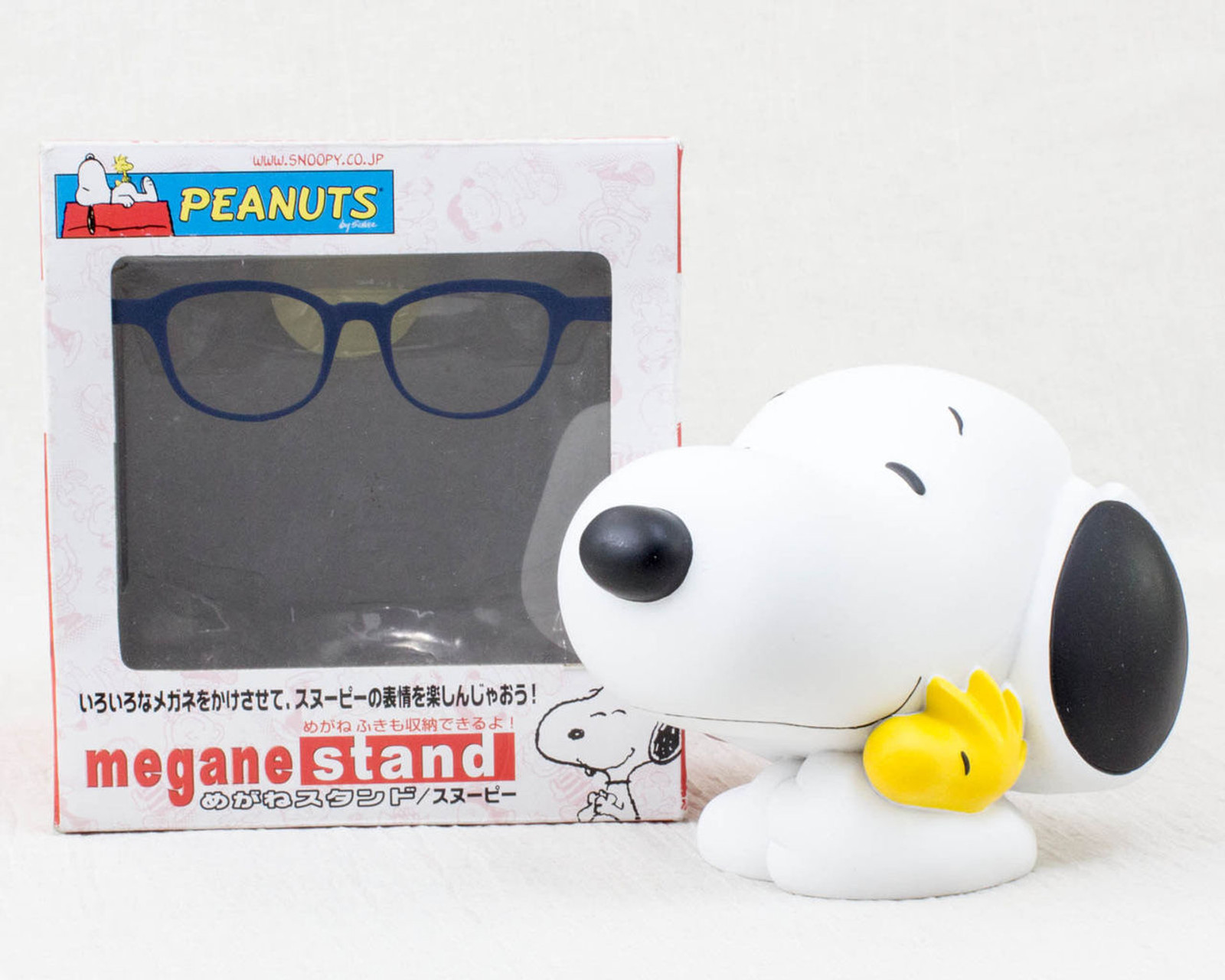 Snoopy Glasses Stand Figure Peanuts Magie Boite JAPAN ANIME