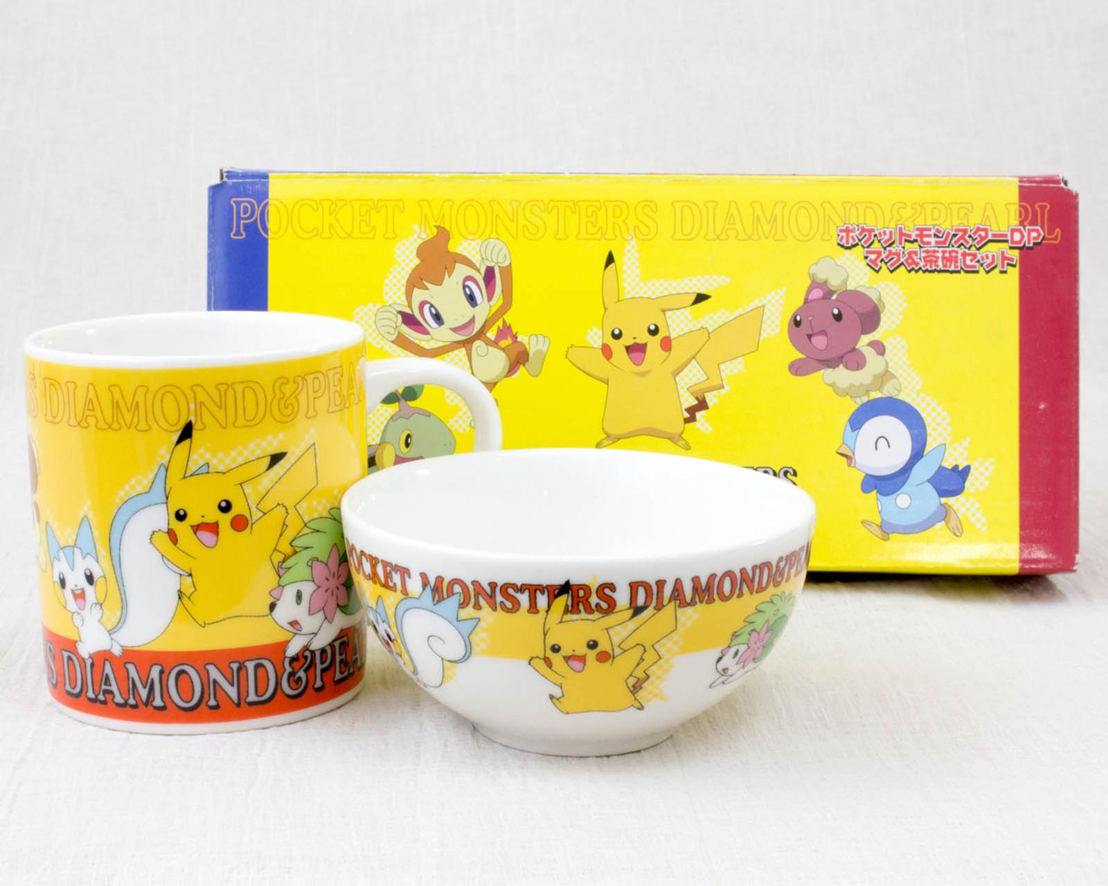Pokemon Mug & Japanese Rice Bowl Set Pikachu Pocket Monsters JAPAN ANIME