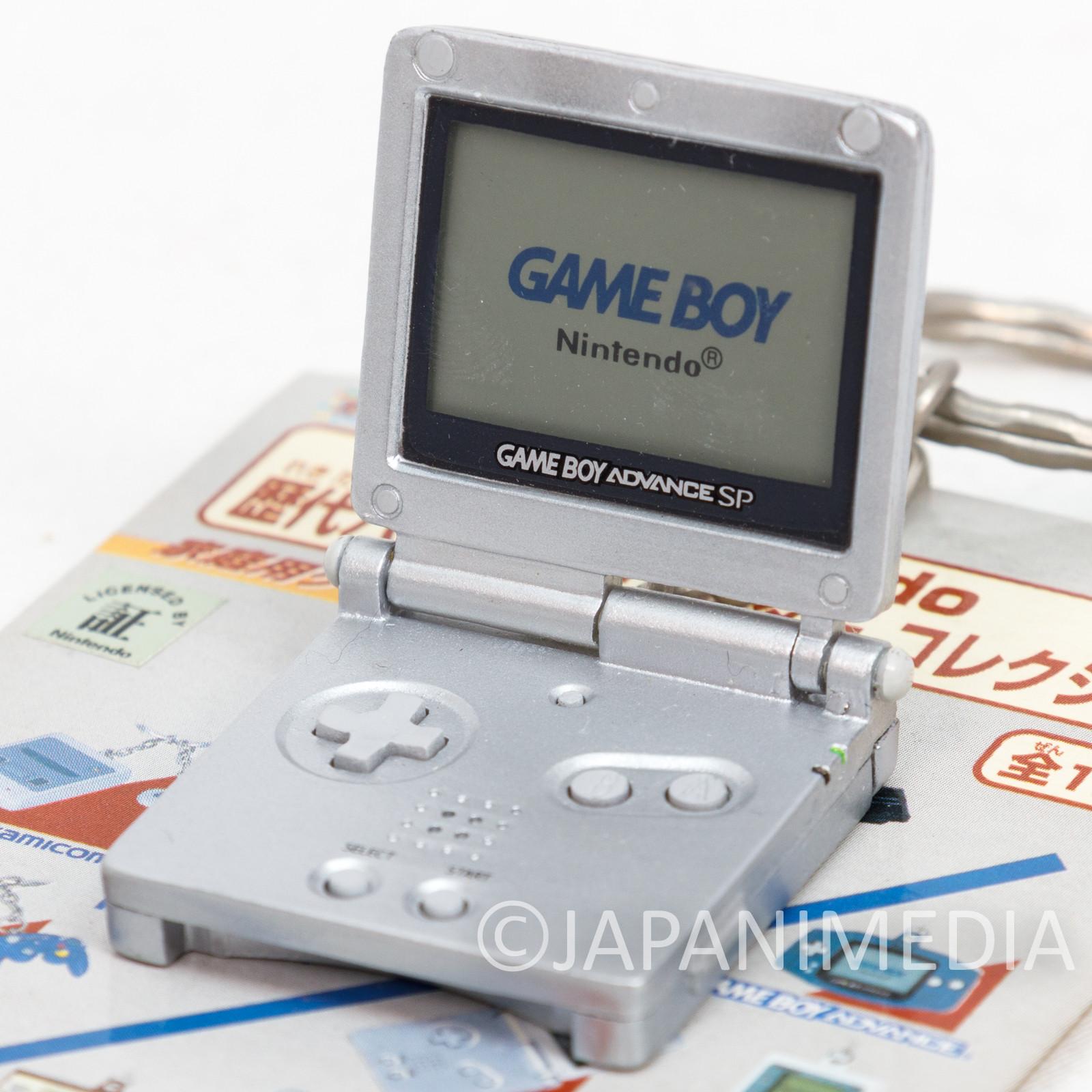 Nintendo Handy Game History Miniature Figure Key Chain GAME BOY Advance SP