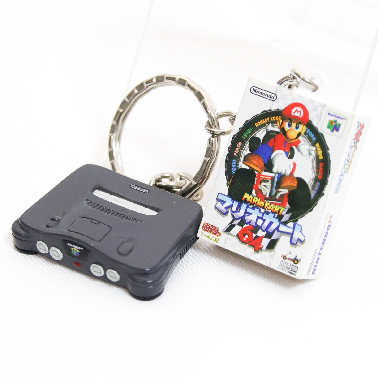 Nintendo Miniature Figure Key Chain Nintendo 64 & Mario Kart 64 JAPAN GAME