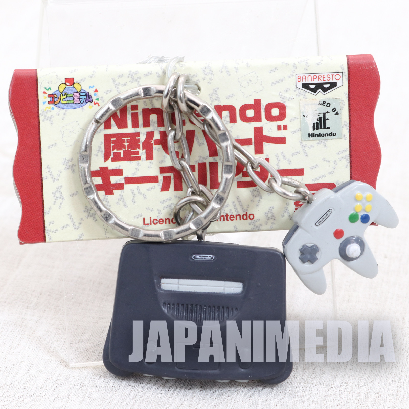 Nintendo Game Console History Miniature Figure Key Chain Nintendo 64 JAPAN
