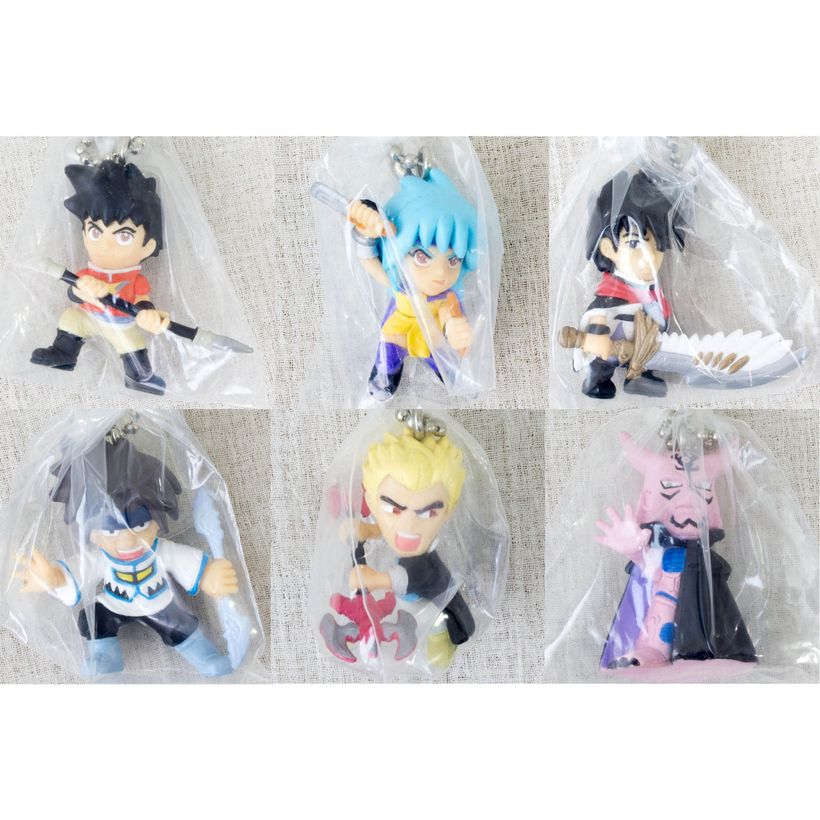Complete Set of Beet the Vandel Buster Mini Figure Ballchain BANDAI JAPAN