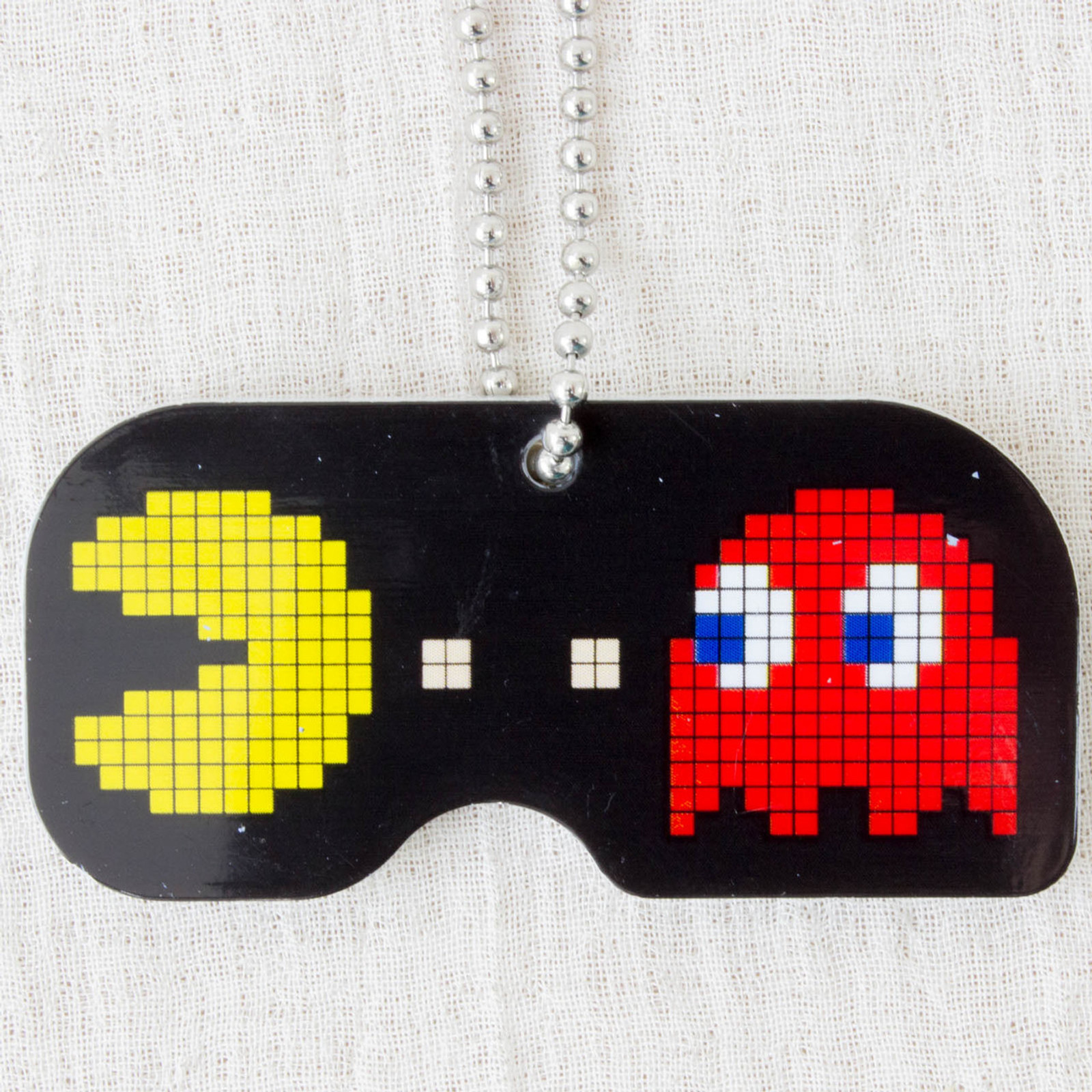Namco Characters Plate Ball Chain Pac-man Famicom JAPAN