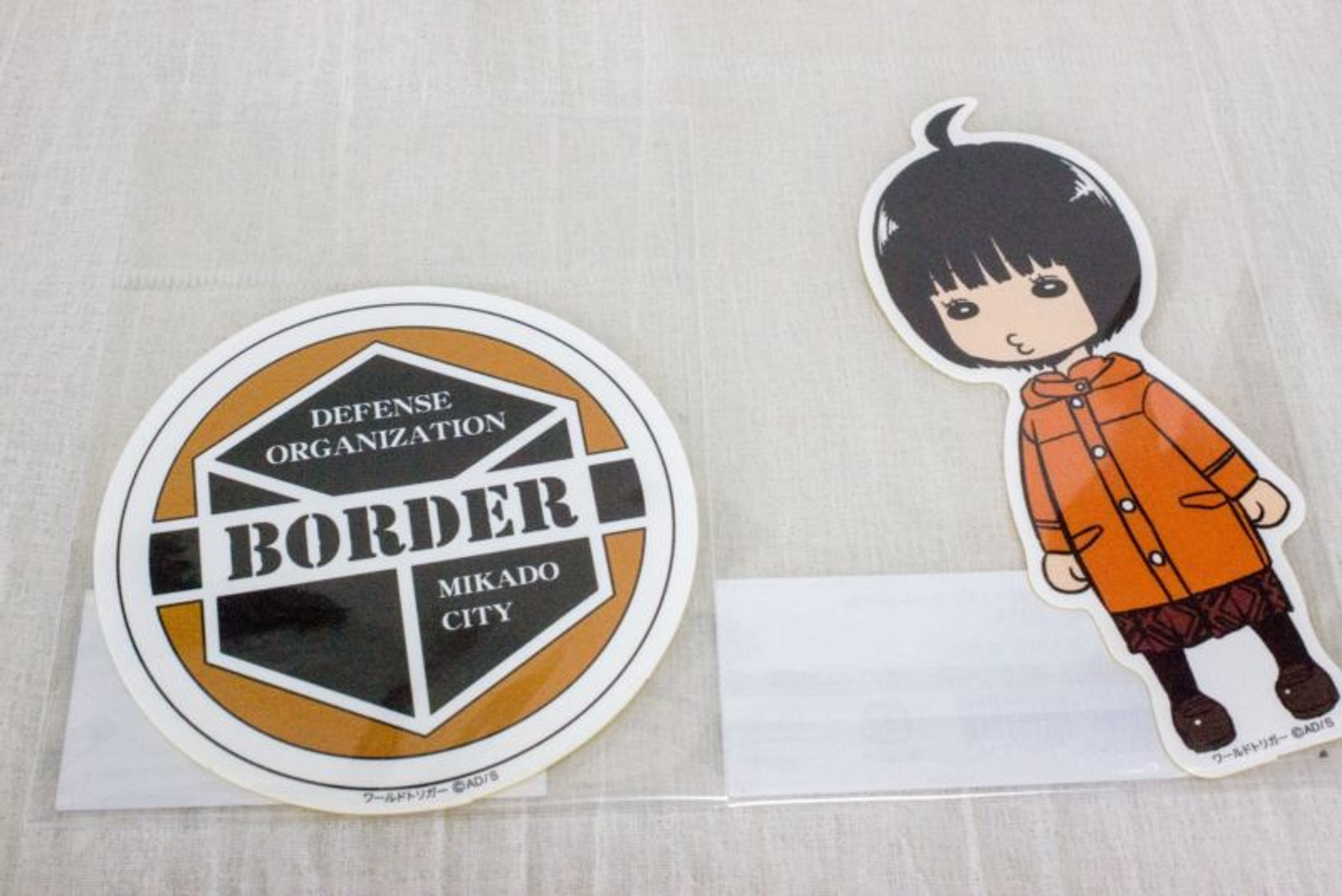 Set of 2 World Trigger Chika Amatori Die cut sticker JAPAN ANIME SHONEN JUMP