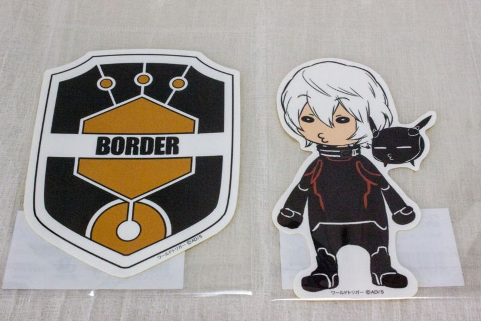Set of 2 World Trigger Yuuma Kuga Die cut sticker JAPAN ANIME SHONEN JUMP