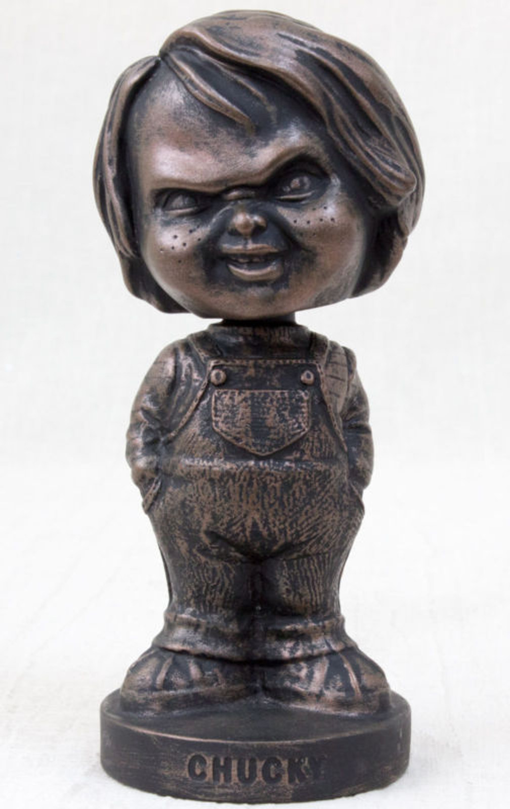 Child's Play 2 Chucky Bronze Statue Type Bobble Head Figure Mike Company (Original Limited 200) JAPAN