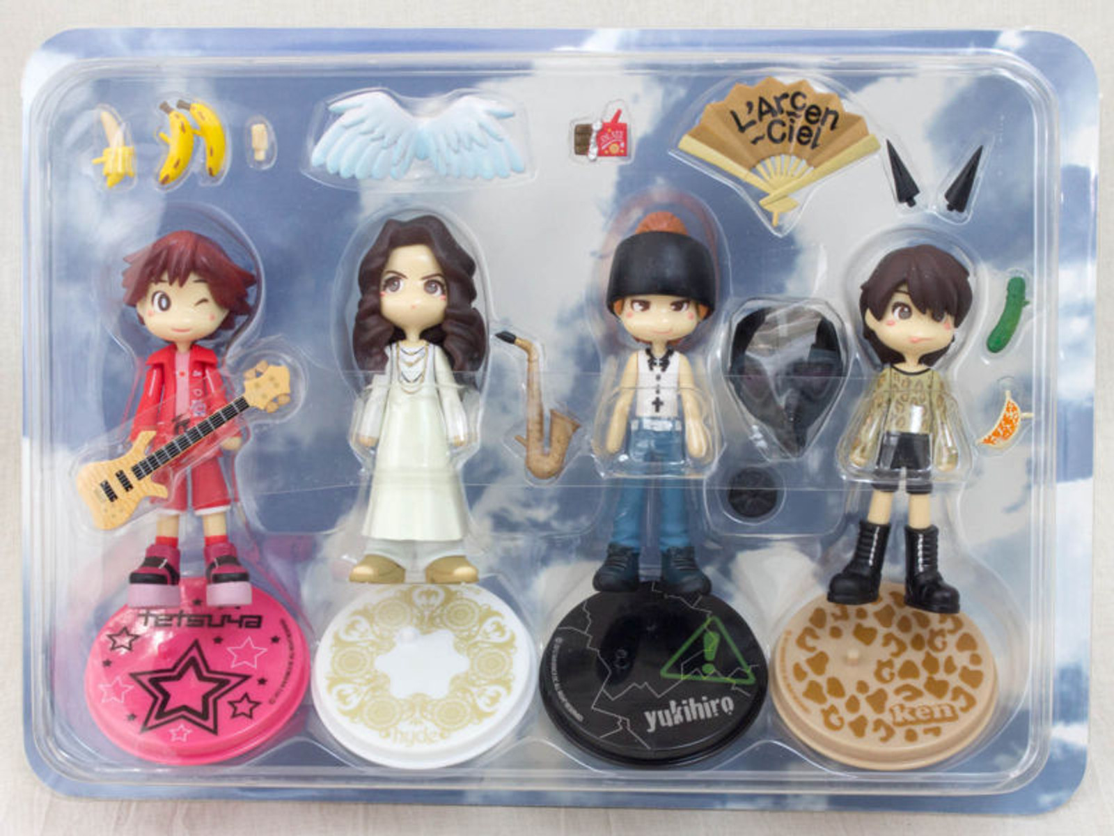 RARE! L'Arc~en~Ciel Pinky Street Figure Set ED3 JAPAN ROCK BAND HYDE