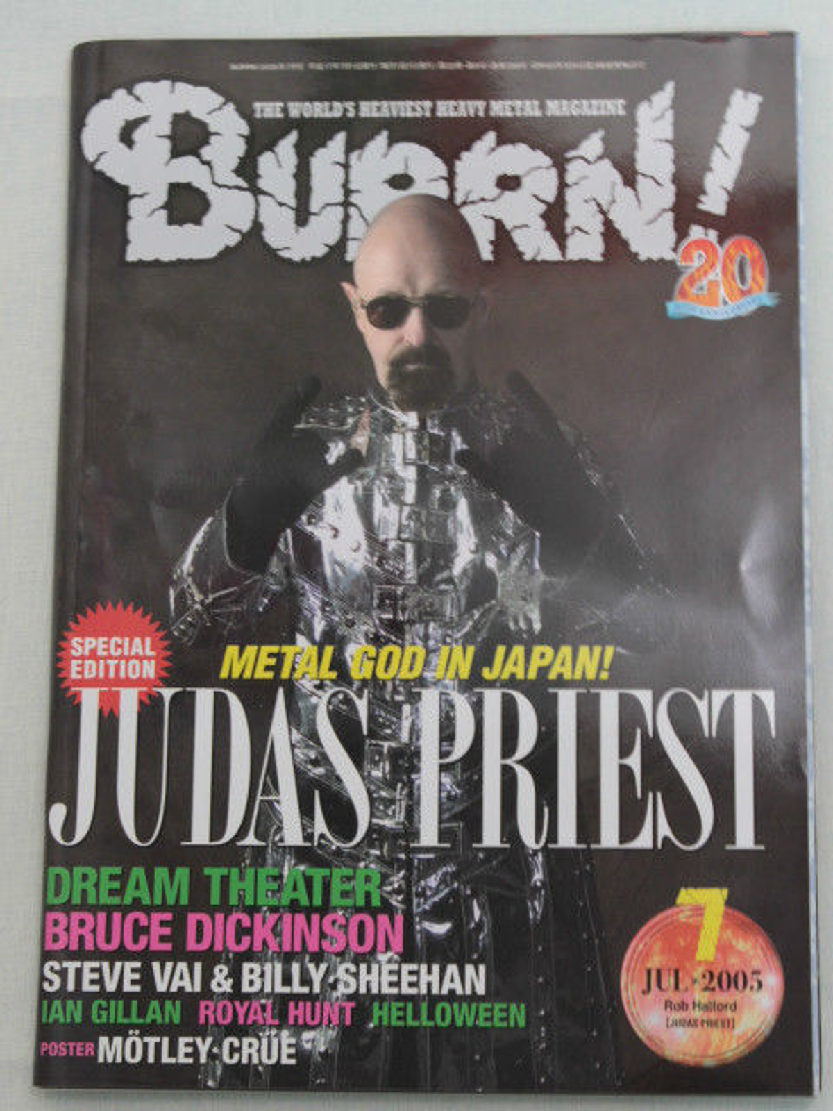 2005/07 BURRN! Japan Magazine JUDAS PRIEST/HELLOWEEN/DREAM THEATER/SILENT FORCE