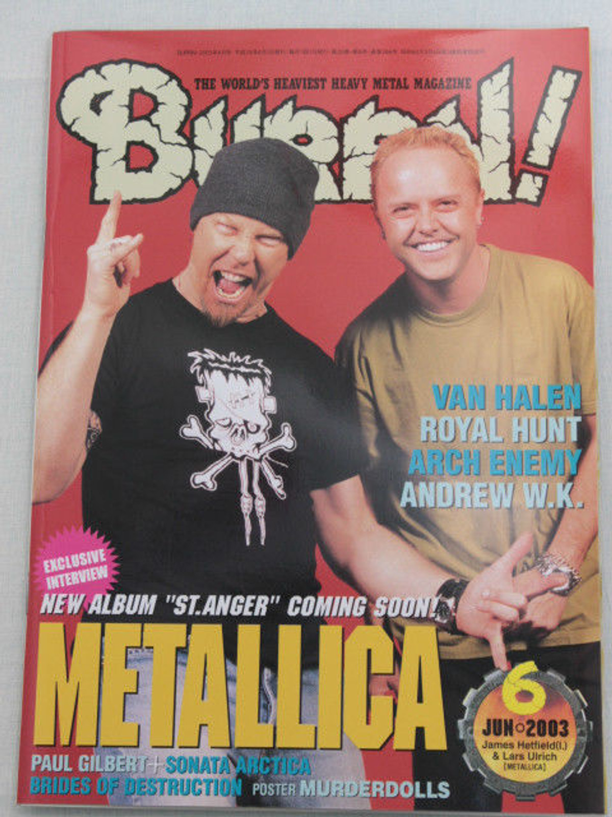 2003/06 BURRN! Japan Magazine  ARCH ENEMY/HAMMER FALL/ANDREW W.K./SIXX