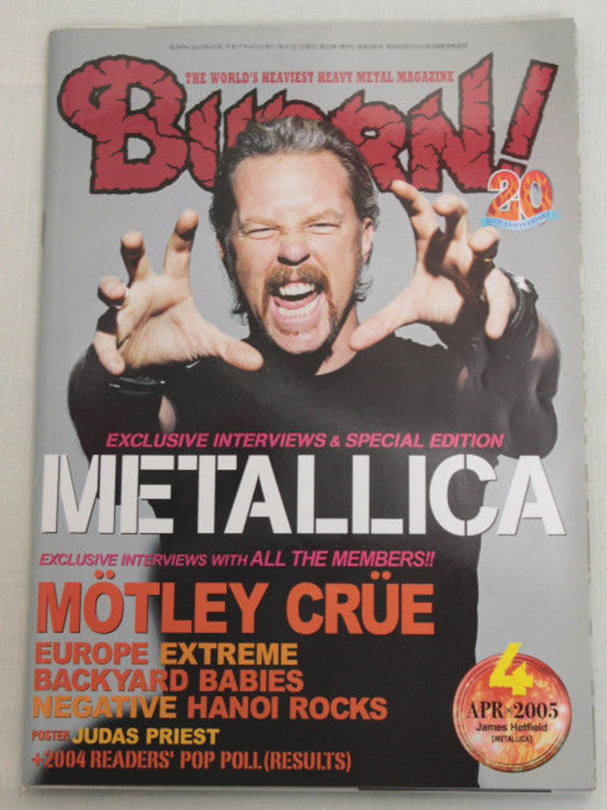2005/04 BURRN! Japan Magazine MOTLEY CRUE/EUROPE/NEGATIVE/EXTREME