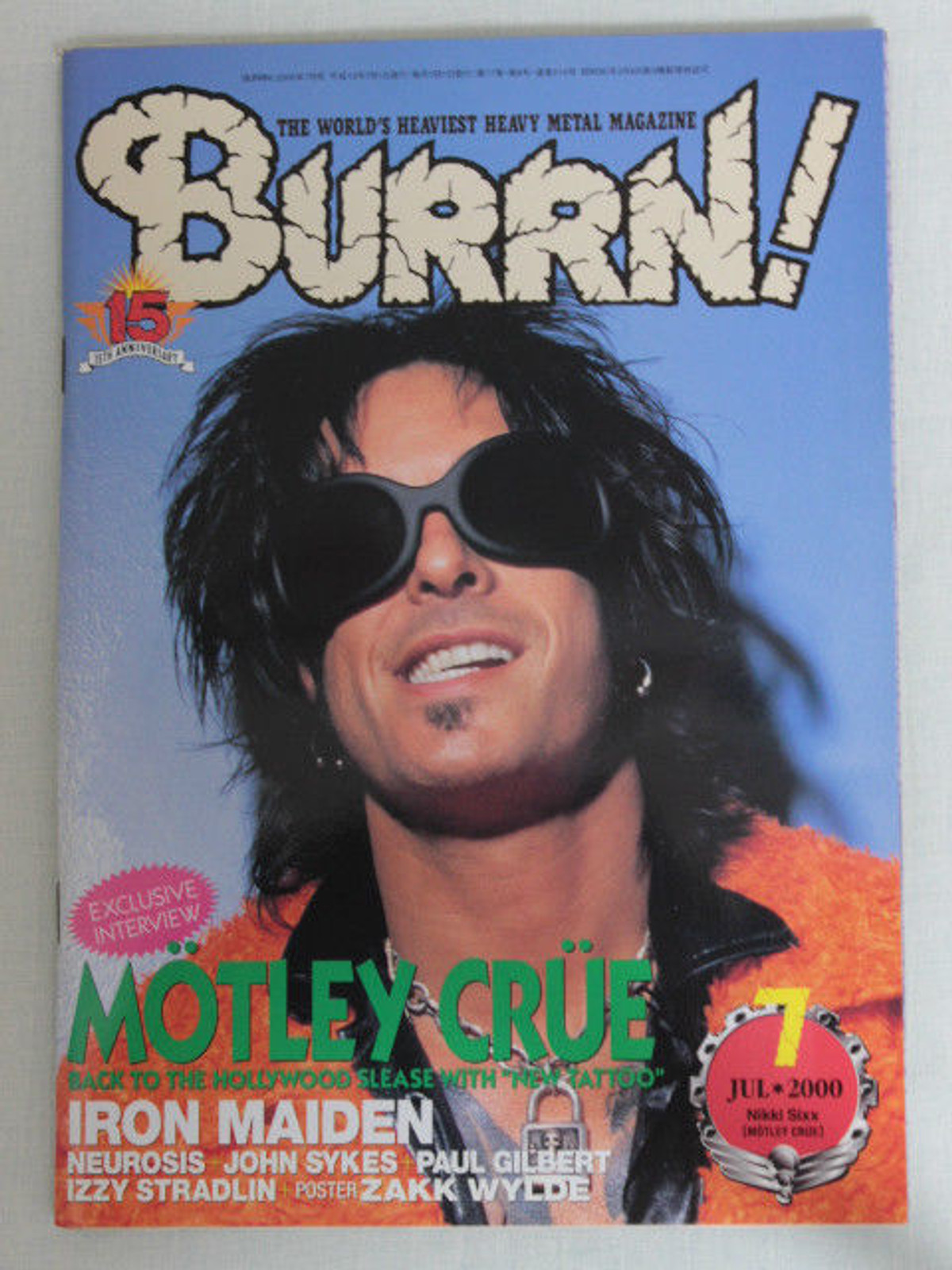 2000/07 BURRN! Japan Magazine MOTLEY CRUE/IRON MAIDEN/IZZY STRADLIN/SOULFLY