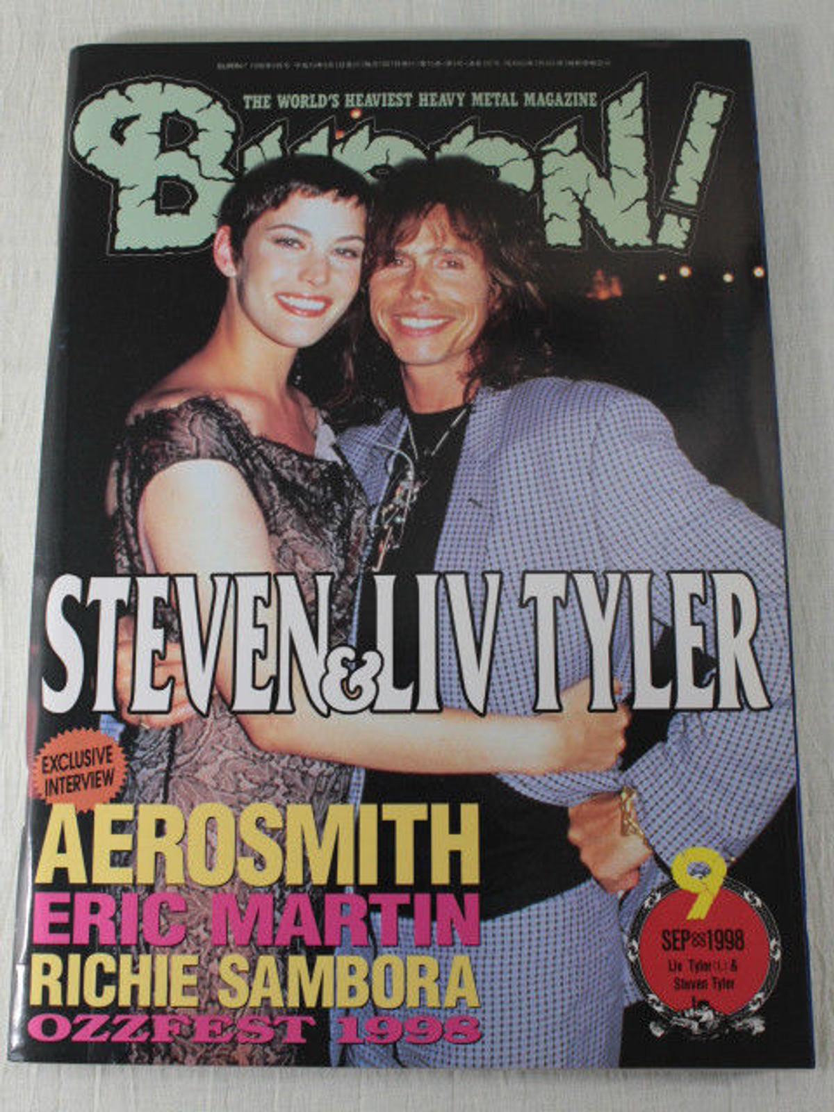 1998/09 BURRN! Japan Rock Magazine AEROSMITH/ANGRA/RICHIE SAMBORA/NIGHT RANGER