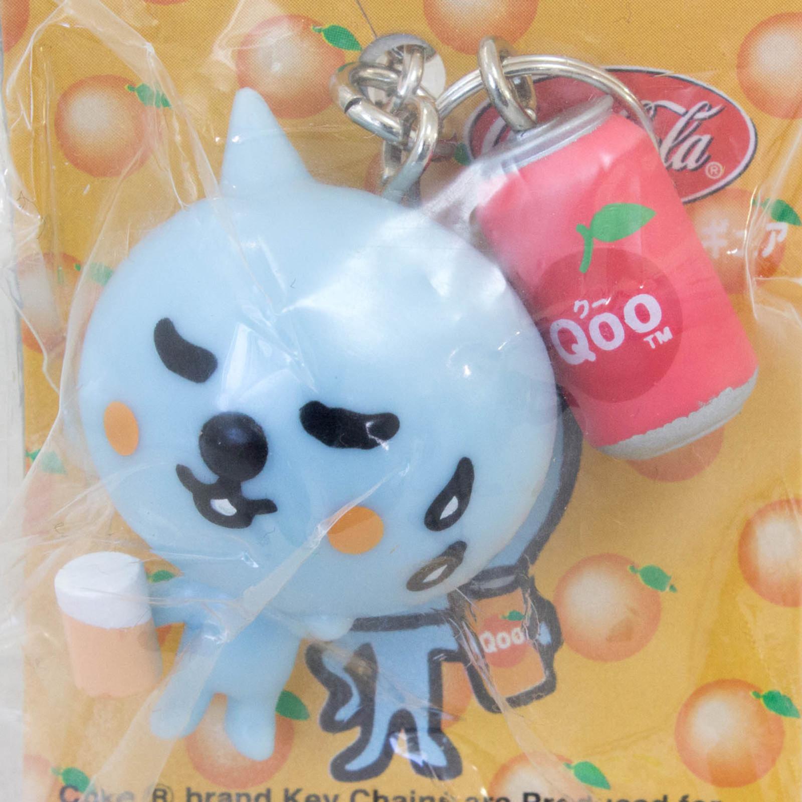 QOO with Apple Juice Can Figure Keychain Coca-Cola SEGA JAPAN 1