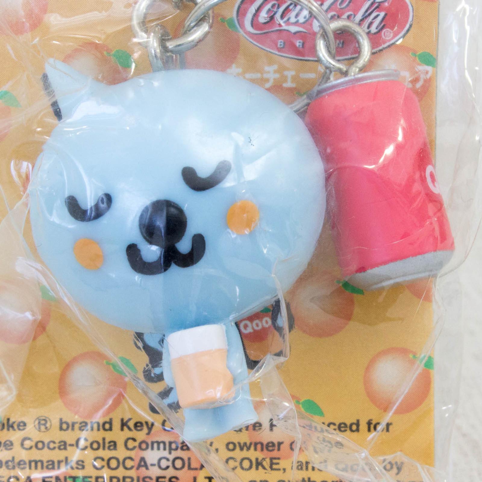 QOO with Apple Juice Can Figure Keychain Coca-Cola SEGA JAPAN 2