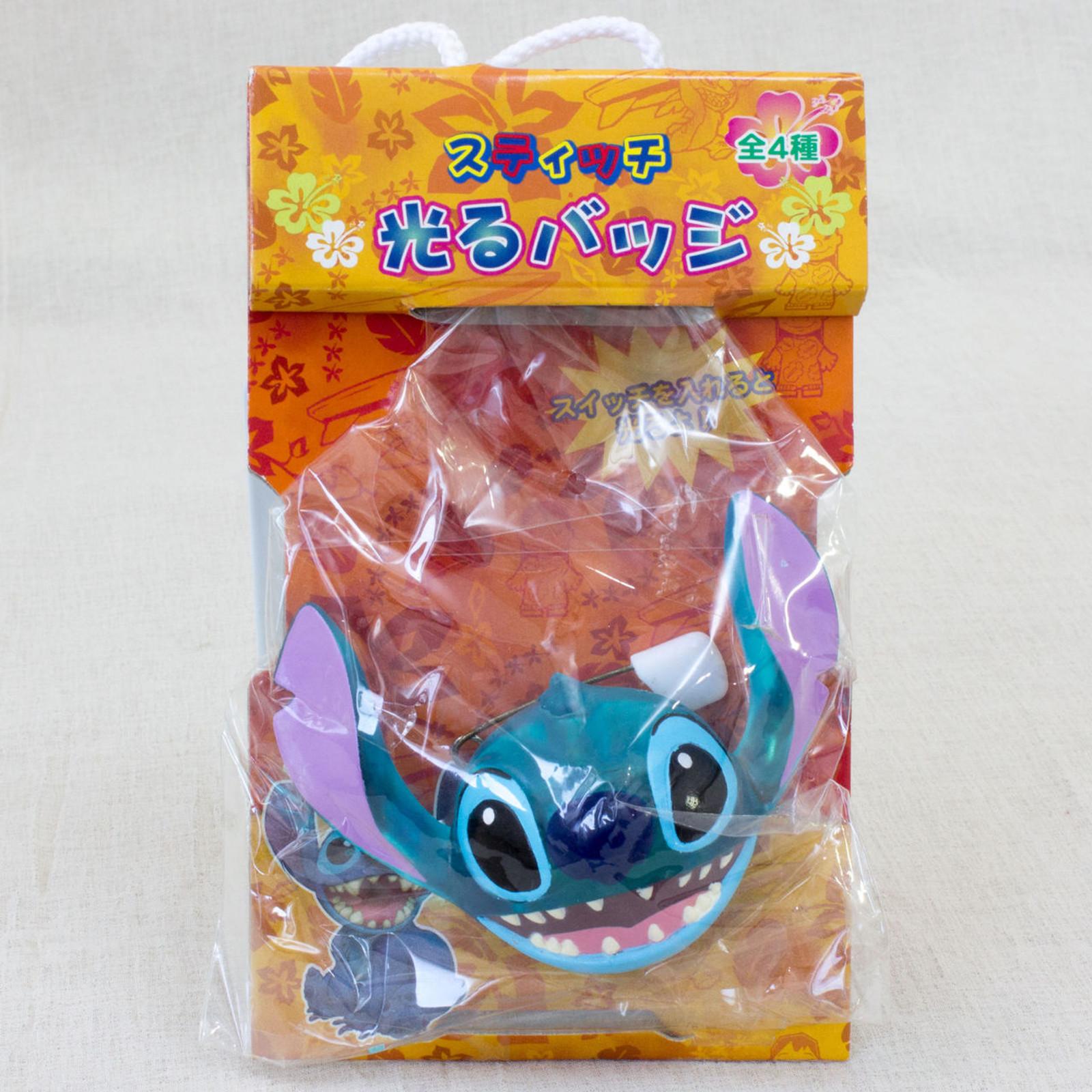 Disney Stitch Face Mascot Figure Flashing Pins Badge SEGA JAPAN ANIME