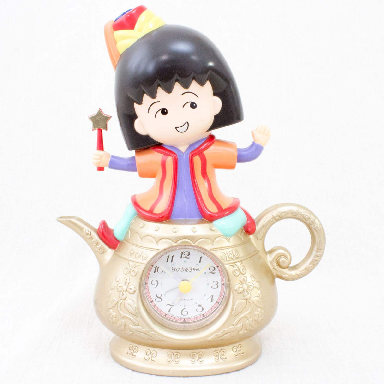 Retro Rare Chibi maruko Chan Figure Voice Sound Alarm Clock JAPAN ANIME MANGA
