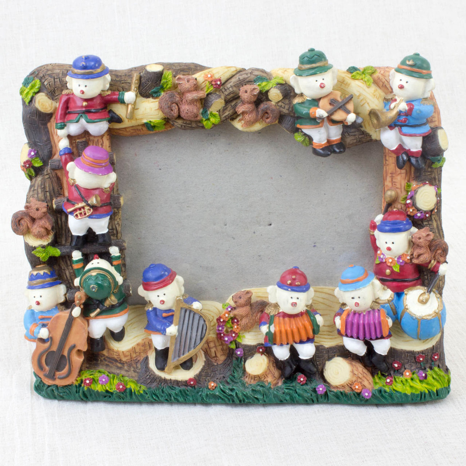 Drum and Fife Musical Band Ceramics Photo Picture Frame