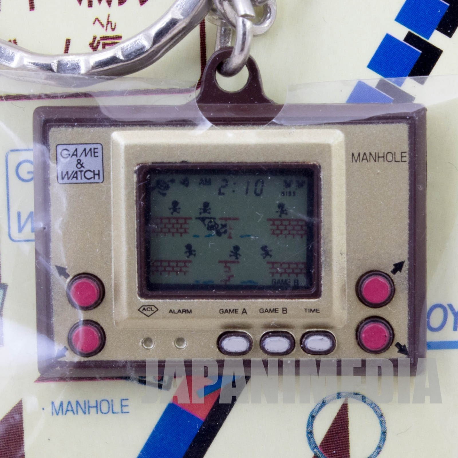 Nintendo Game & Watch History Miniature Figure Key Chain MANHOLE JAPAN