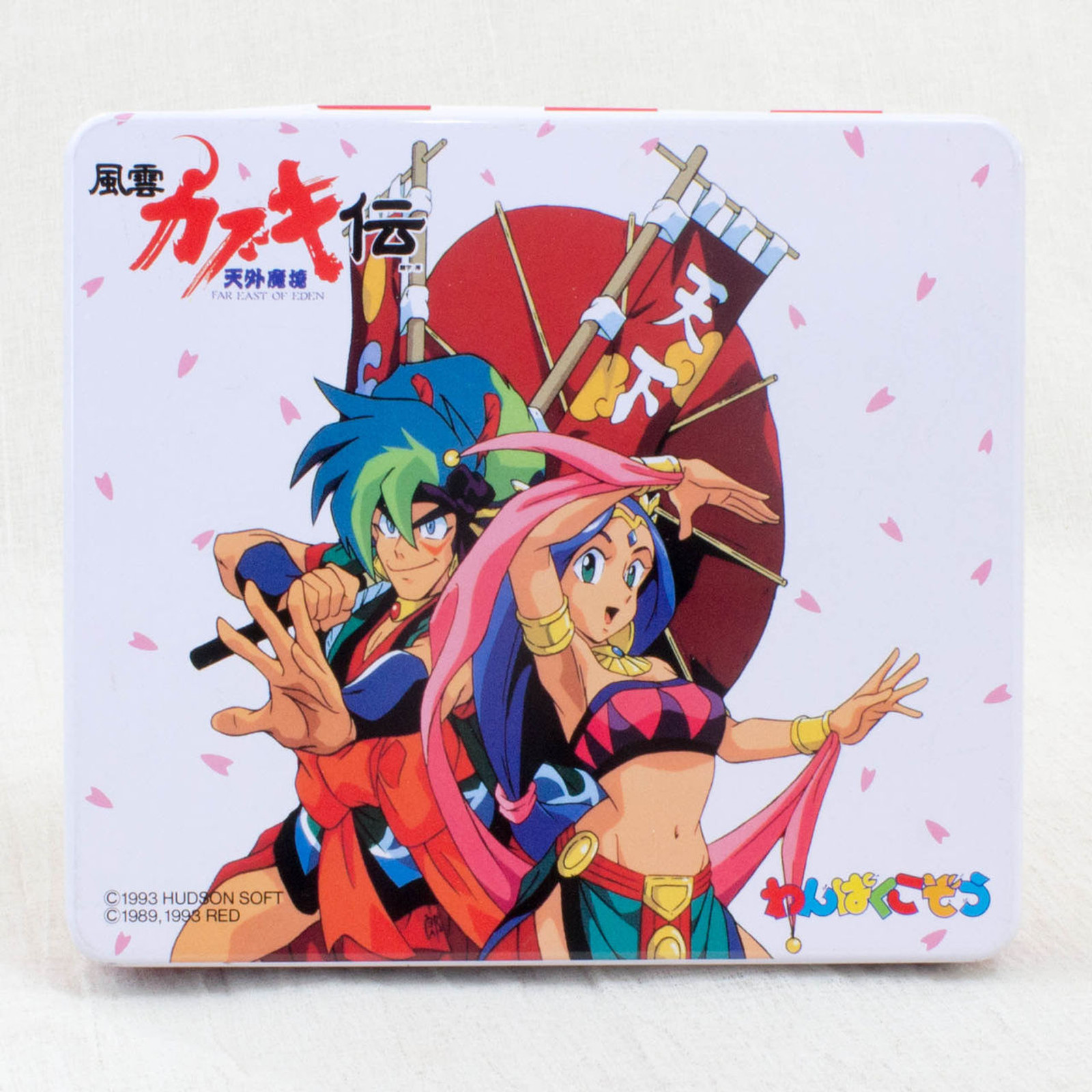 RARE! Far East of Eden Tengaimakyo Fuun Kabuki Den Can Case JAPAN ANIME