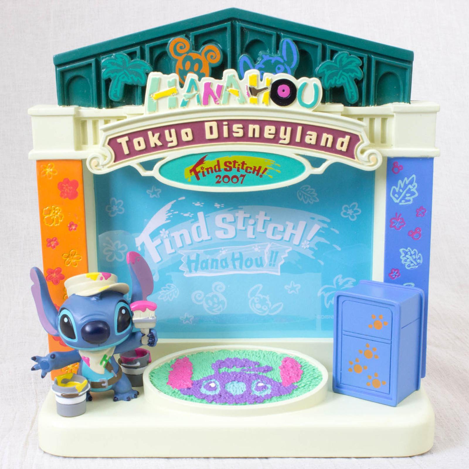 RARE! Disney Stitch Tokyo Disneyland 2007 Hana Hou! Photo Frame Stand JAPAN ANIME