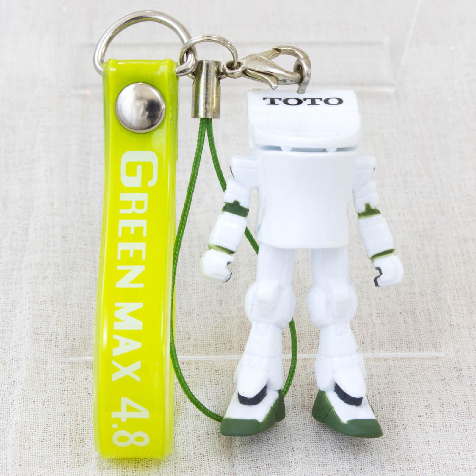 RARE! TOTO Green Max 4.8 Toilet bowl Green Mascot Figure Strap JAPAN ANIME