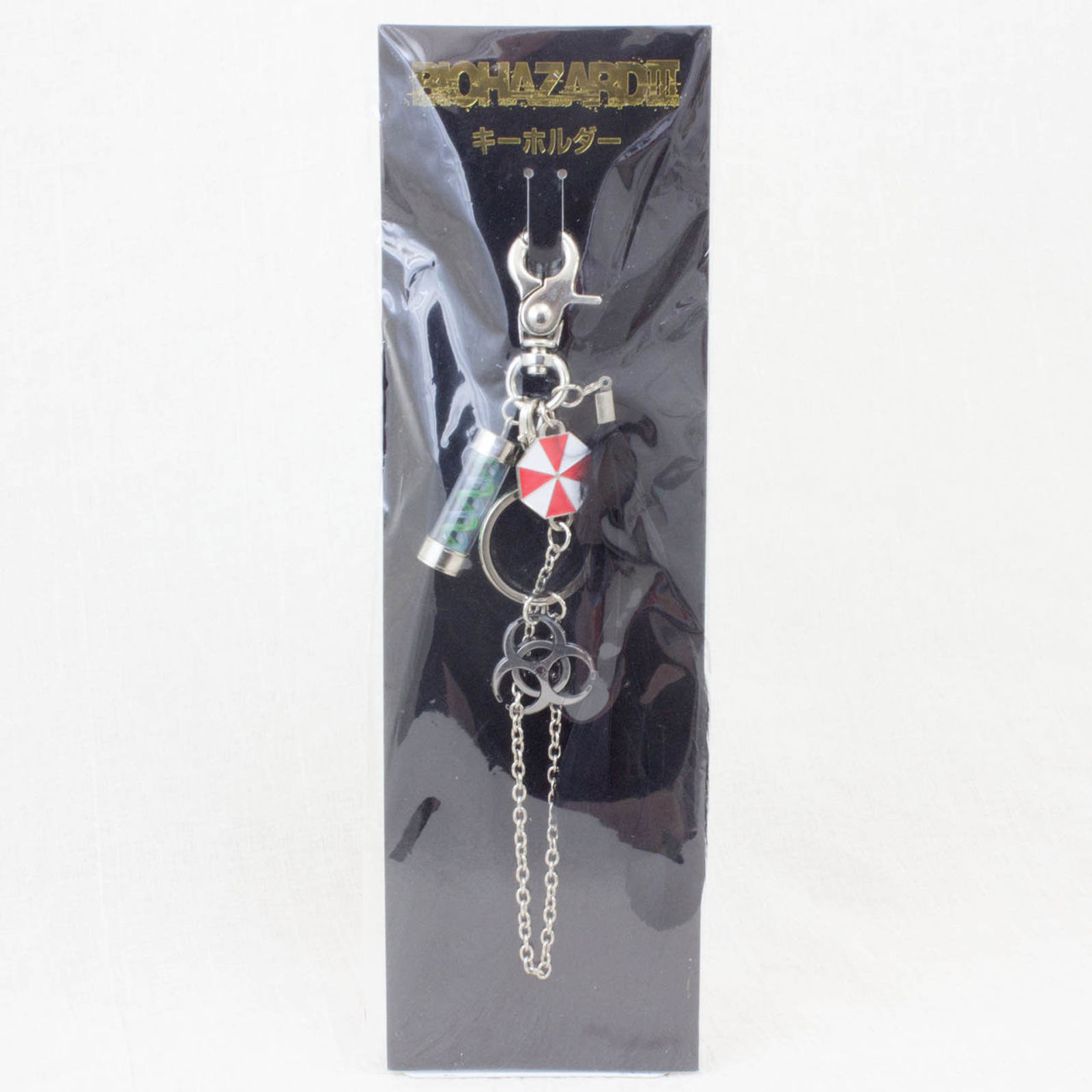 RESIDENT EVIL Biohazard 3 Umbrella T-Virus Mascot Key Chain Theater Limited JAPAN