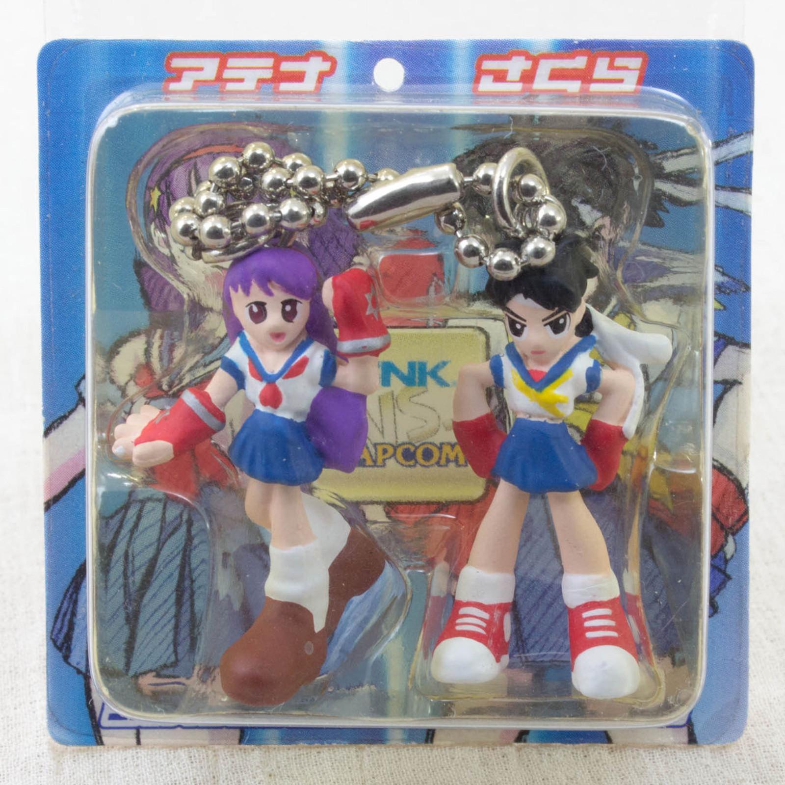 SNK VS Capcom Sakura & Athena Petit Twin Figure Ball Chain JAPAN SAMURAI
