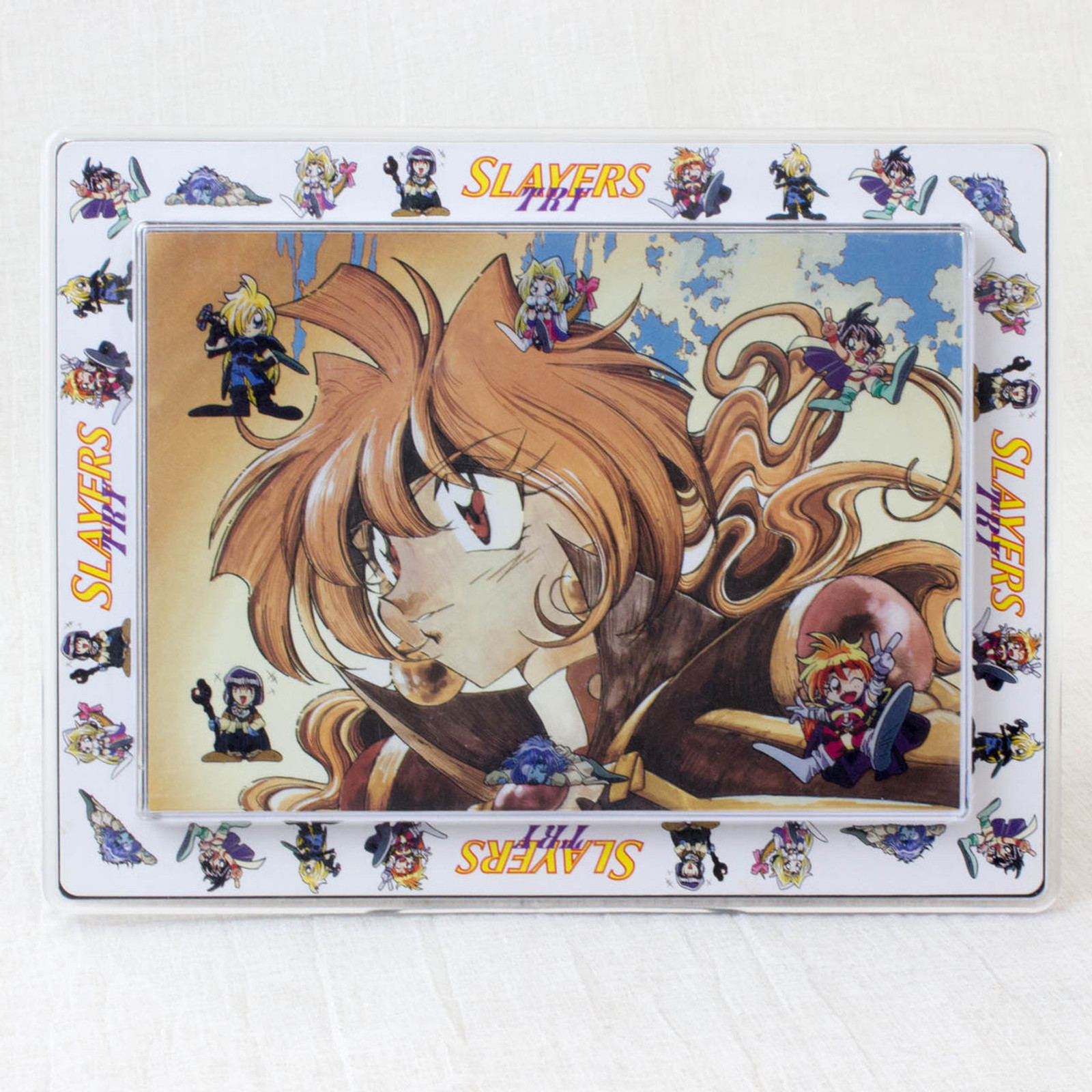 RARE! Slayers Try Photo Stand Frame Rina Gourry Xelloss JAPAN ANIME MANGA