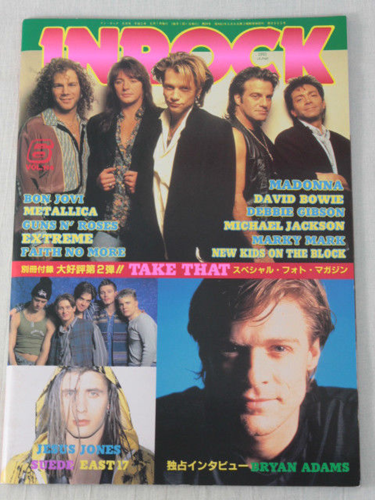 INROCK JAPAN Magazine JUN/1993 BON JOVI/GUNS N' ROSES/TAKE THAT/EAST 17/EXTREME