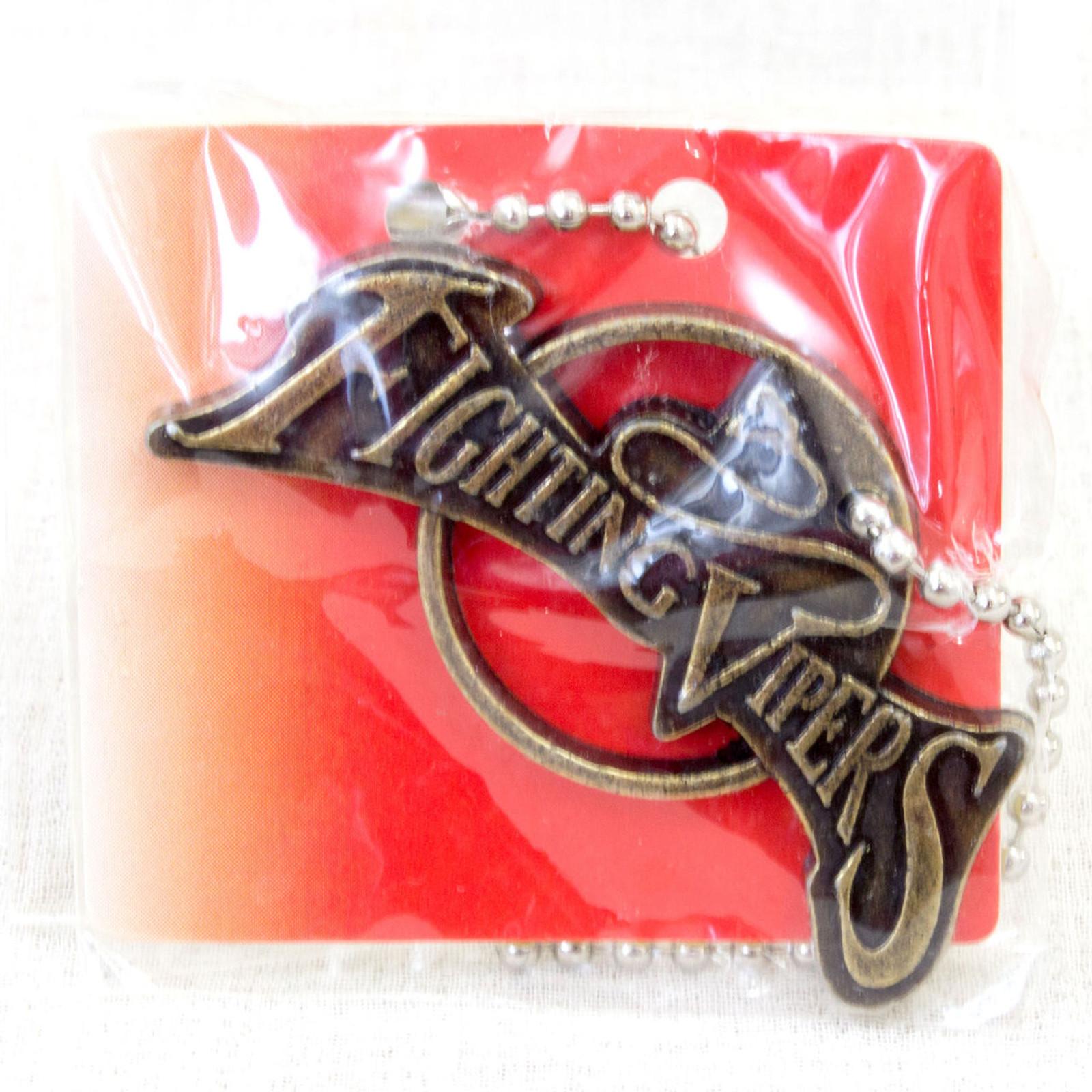 SEGA Logo Metal Plate Ball Chain Fighting Vipers Gold JAPAN GAME