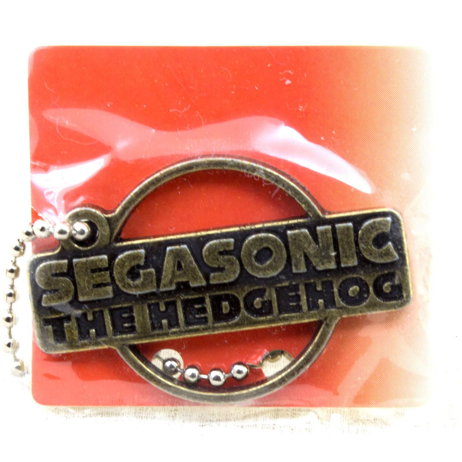 SEGA Logo Metal Plate Ball Chain Sonic The Hedgehog Gold JAPAN GAME