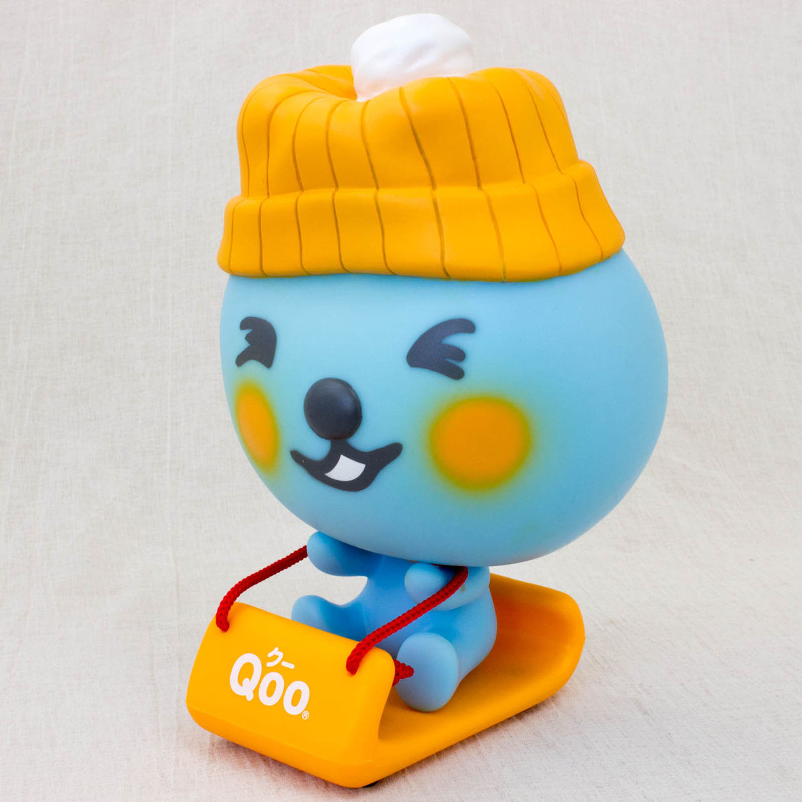 QOO Knit Hat with Snow Sled Figure Coca-Cola Yamazaki Japan Limited Product
