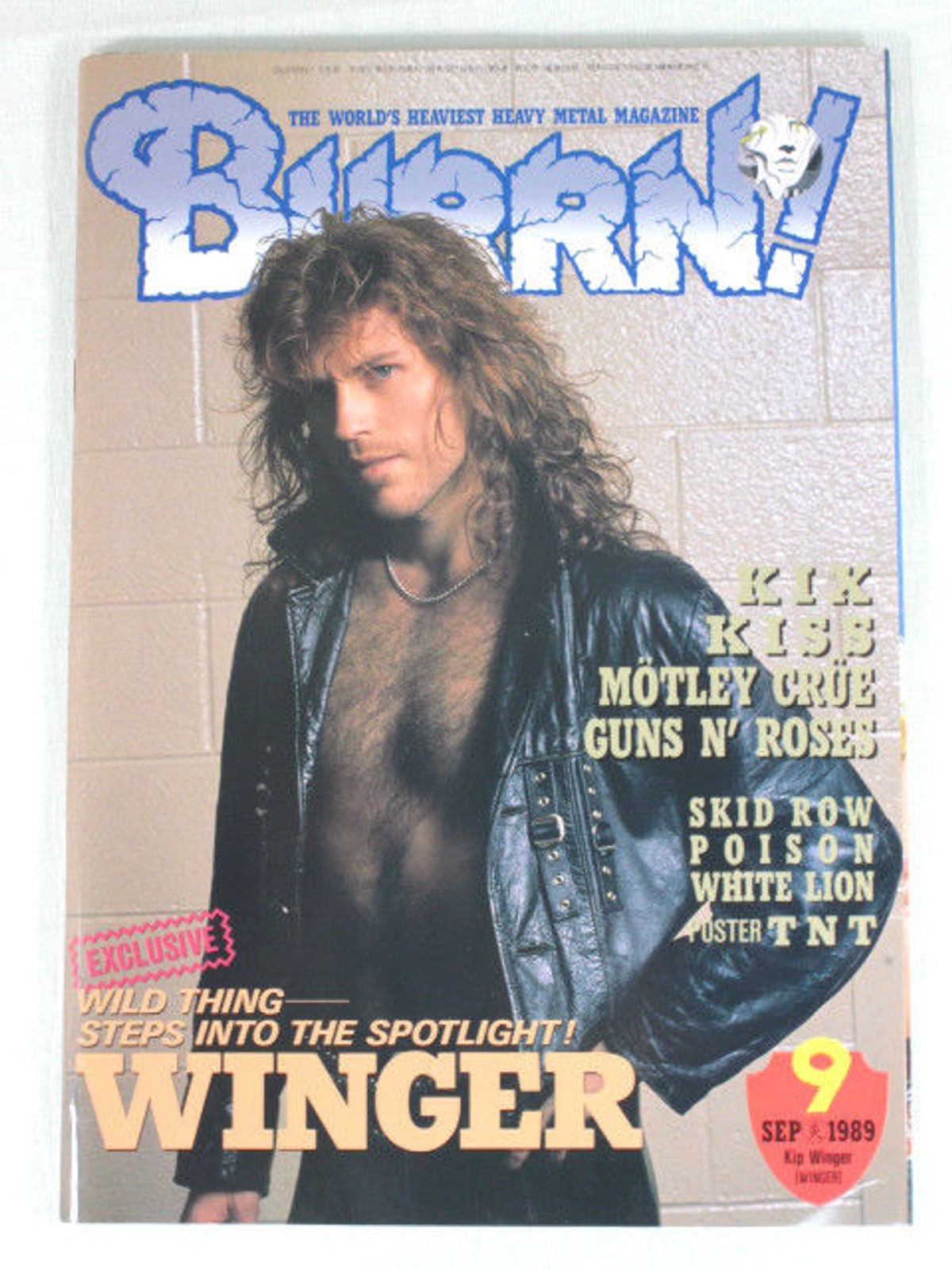1989/09 BURRN! Japan Rock Magazine WINGER/KISS/MOTLEY CLUE/GUNS N' ROSES/POISON