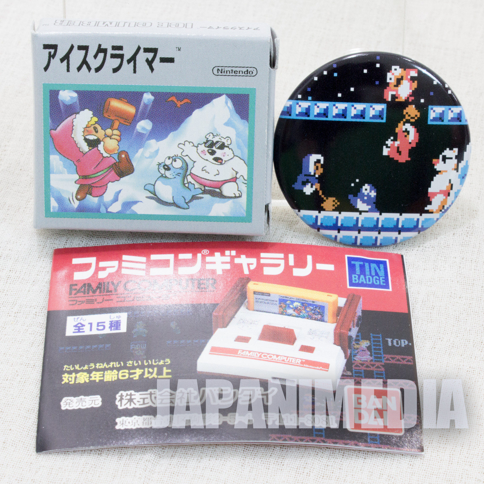Ice Climber Pins Badge #1 Nintendo JAPAN FAMICOM NES