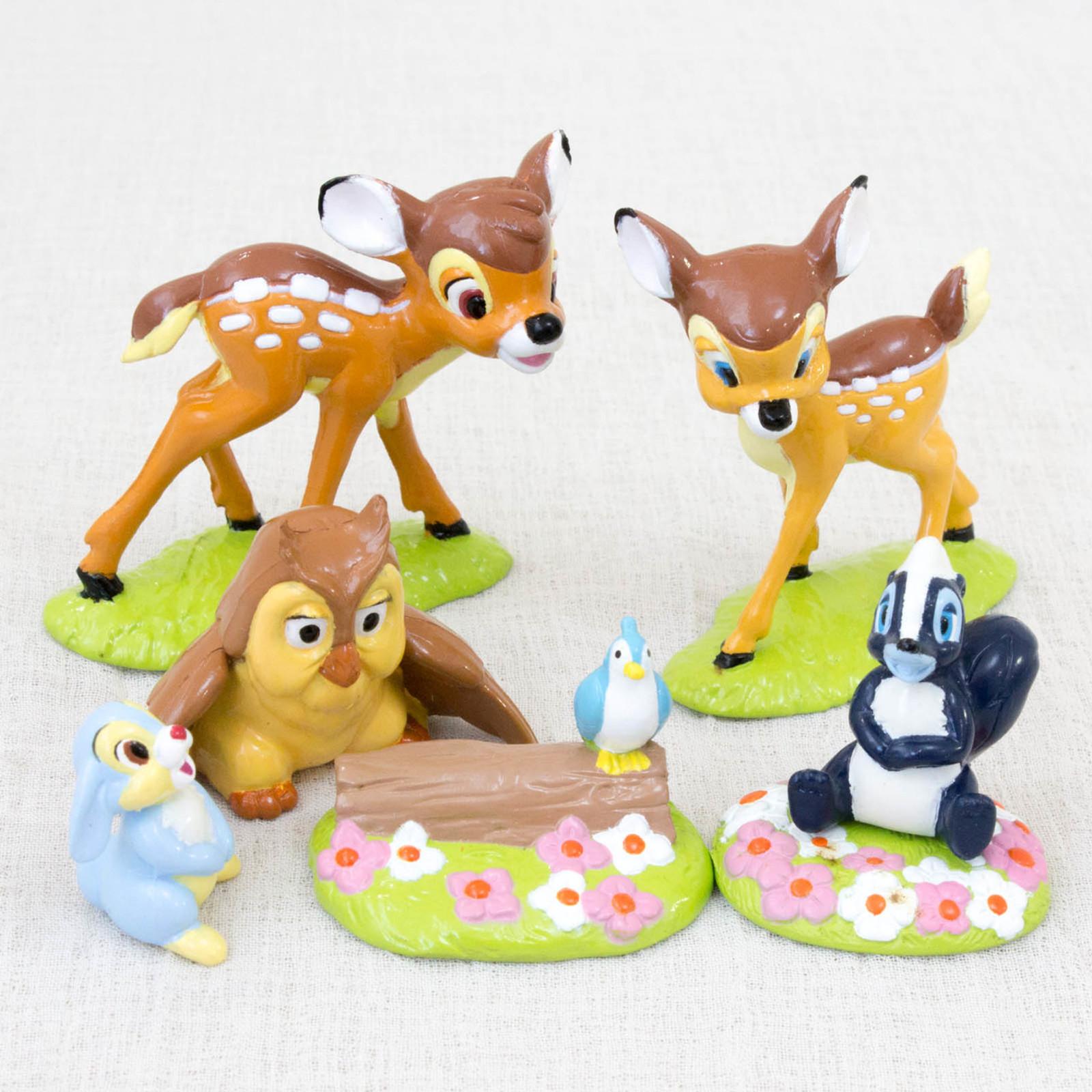 RARE! BAMBI Movie Friends Mini Figure Set Yutaka JAPAN