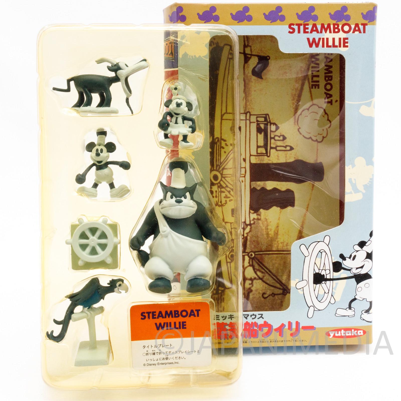 RARE! Disney Steamboat Willie Movie Friends Mini Figure Set Yutaka JAPAN