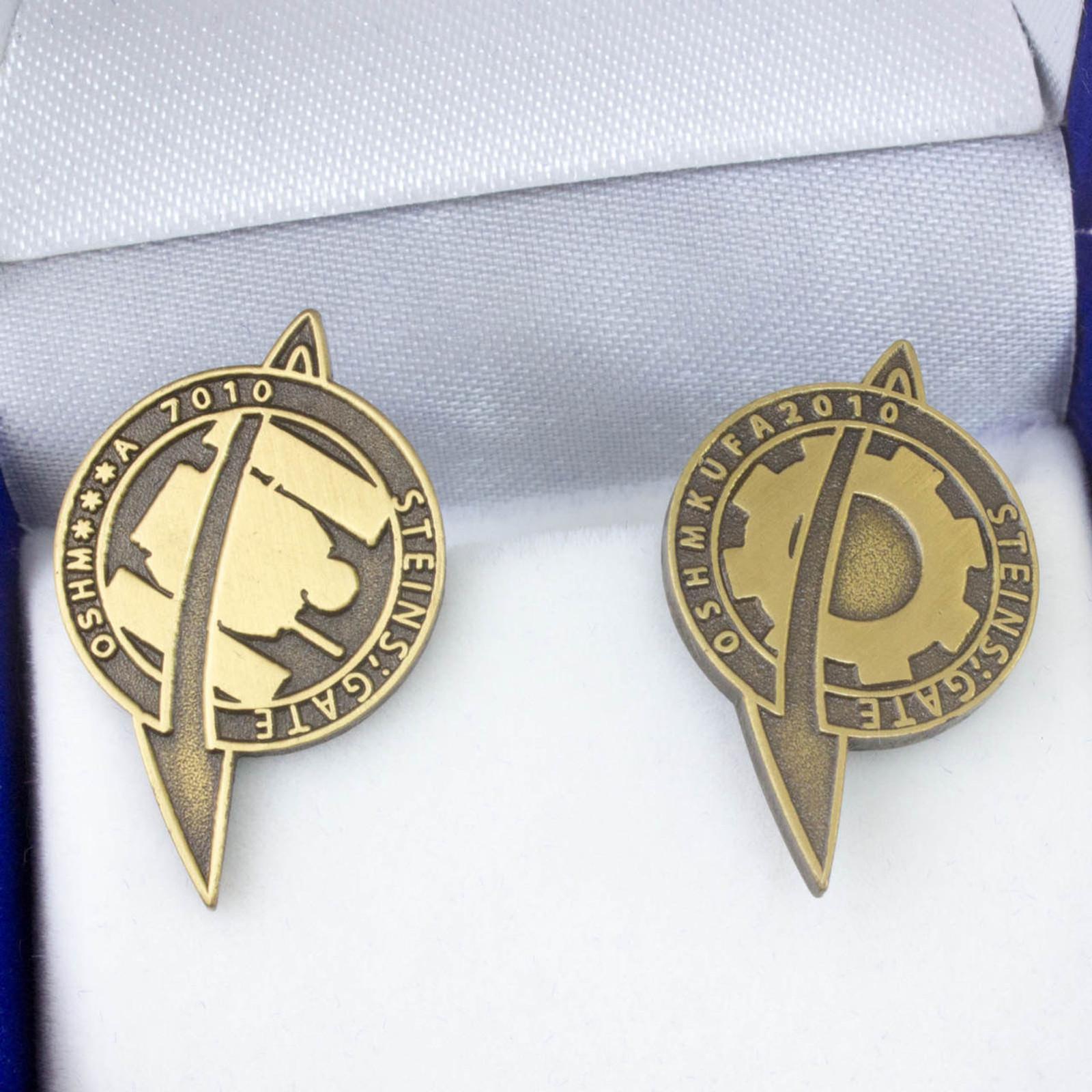 RARE! Steins ; Gate Lab Men Pins Badge Set JAPAN ANIME MANGA