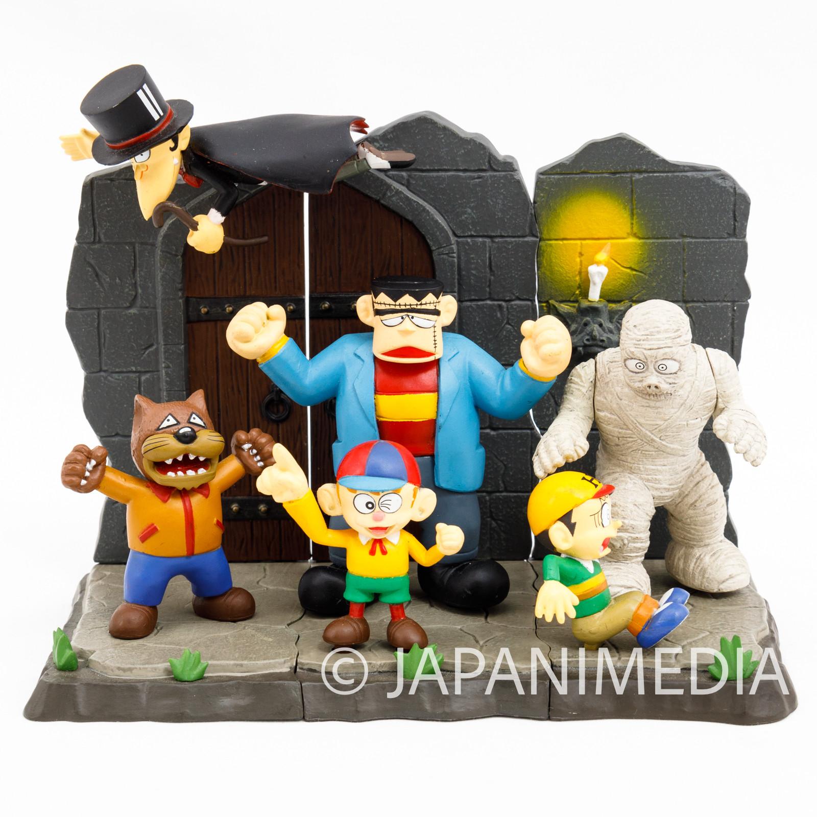 The Monster Kid Diorama Figure Set [Kaibutsu-kun / Hiroshi / Dracula / Wolfman /Franken] Fujiko Fujio Furuta JAPAN ANIME MANGA