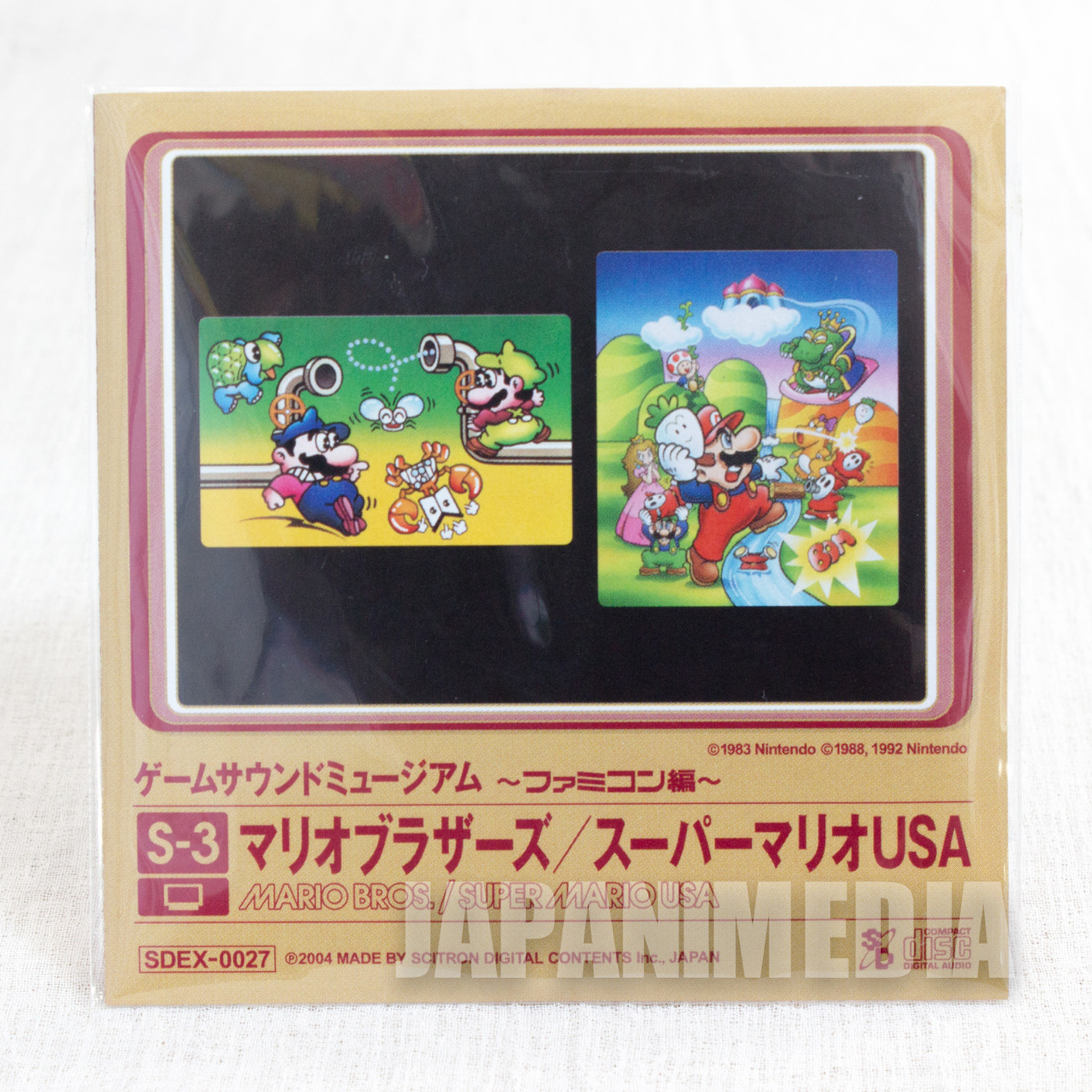 Mario Bros. / Super Mario USA Game Sound Museum Nintendo Music 8cm CD JAPAN