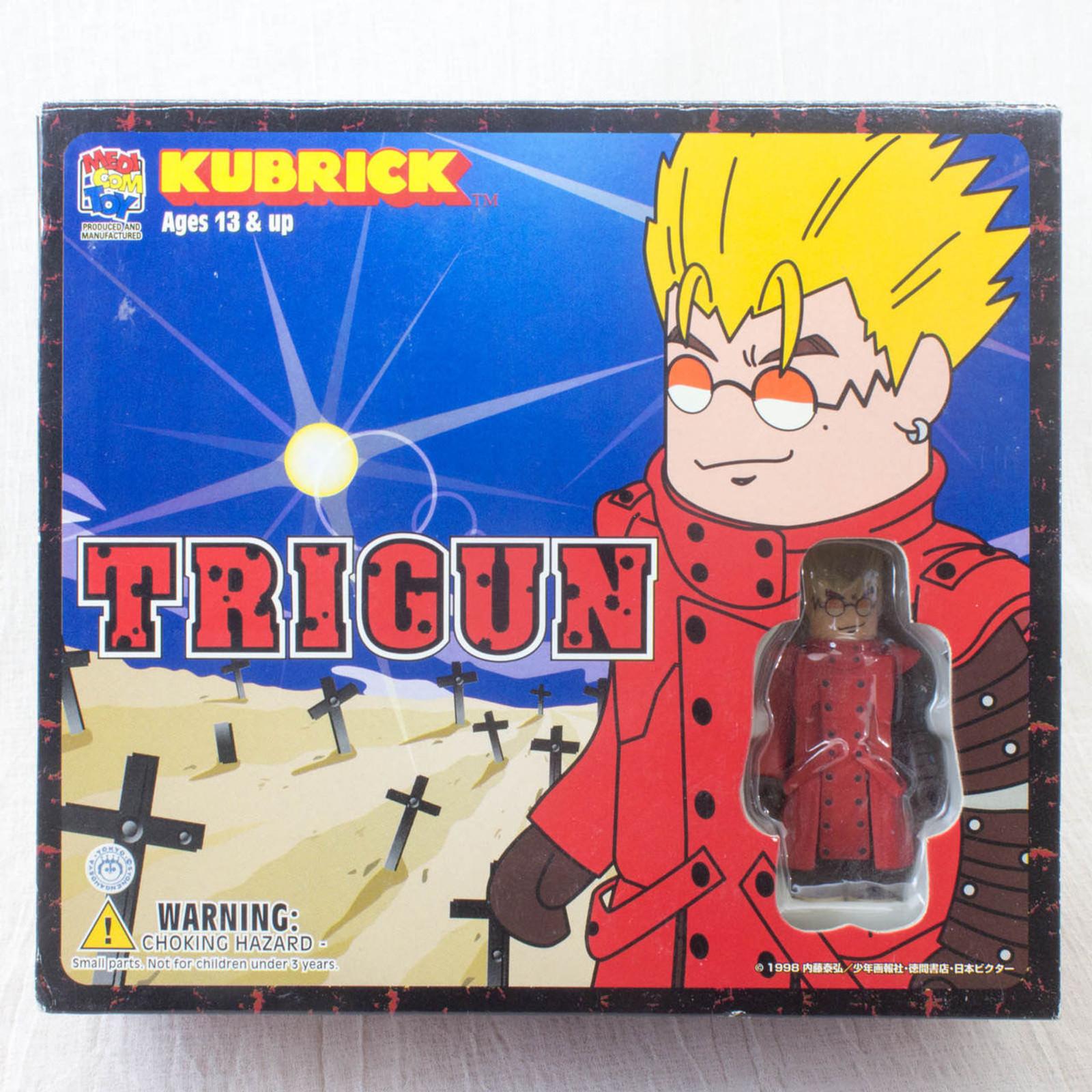 TRIGUN Kubrick 3pc Set Medicom Toy Figure Vash Nicholas Monev JAPAN ANIME MANGA