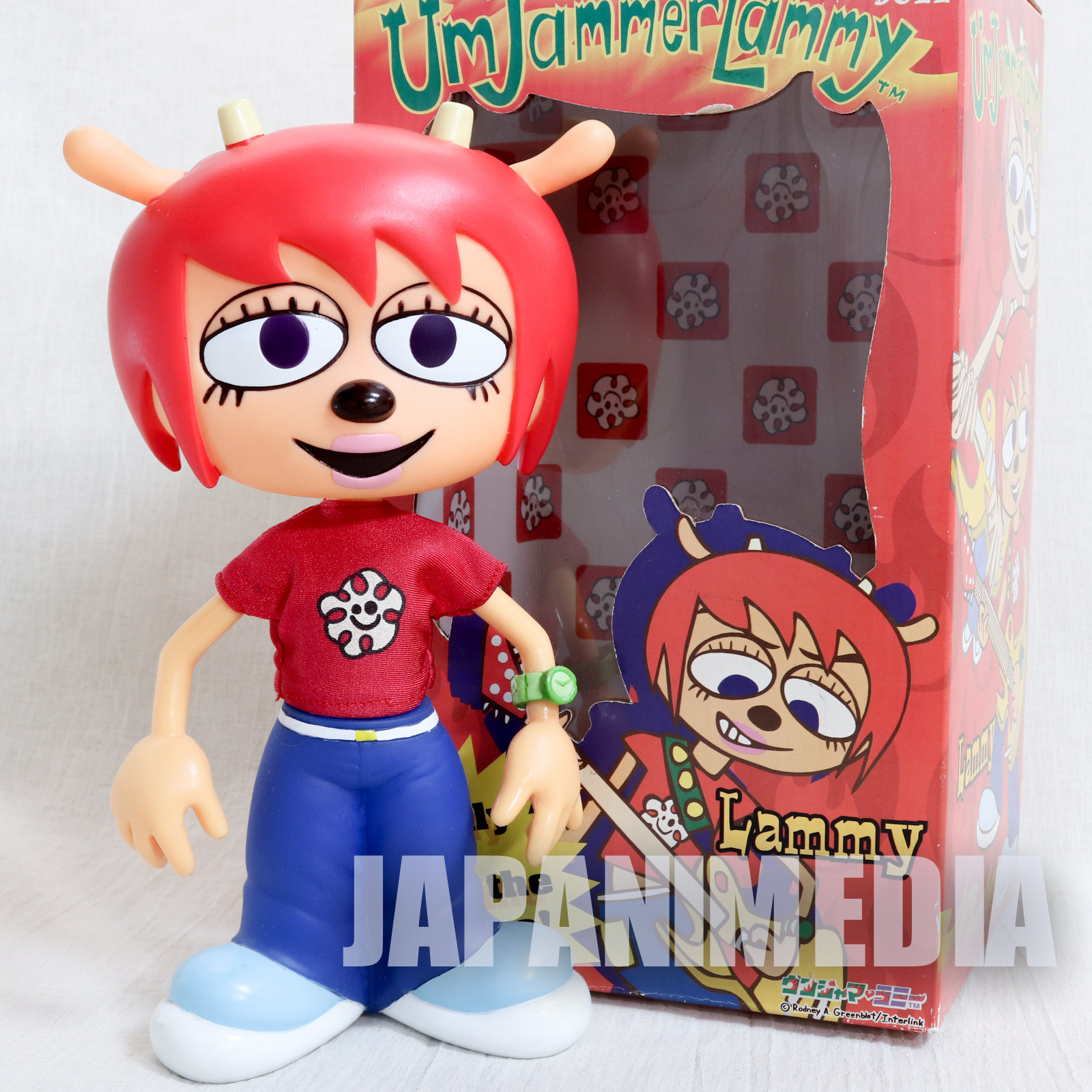 UmJammer Lammy Collectible Doll Figure Medicom Toy JAPAN Parappa The Rapper