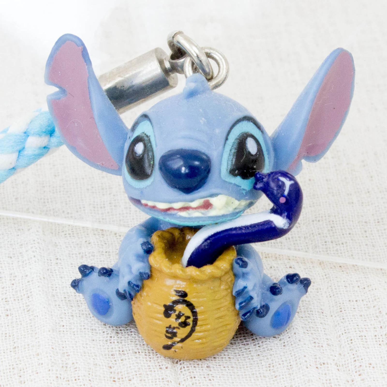 Disney Stitch Mascot Figure Strap Hamanako Eel Ver. JAPAN ANIME