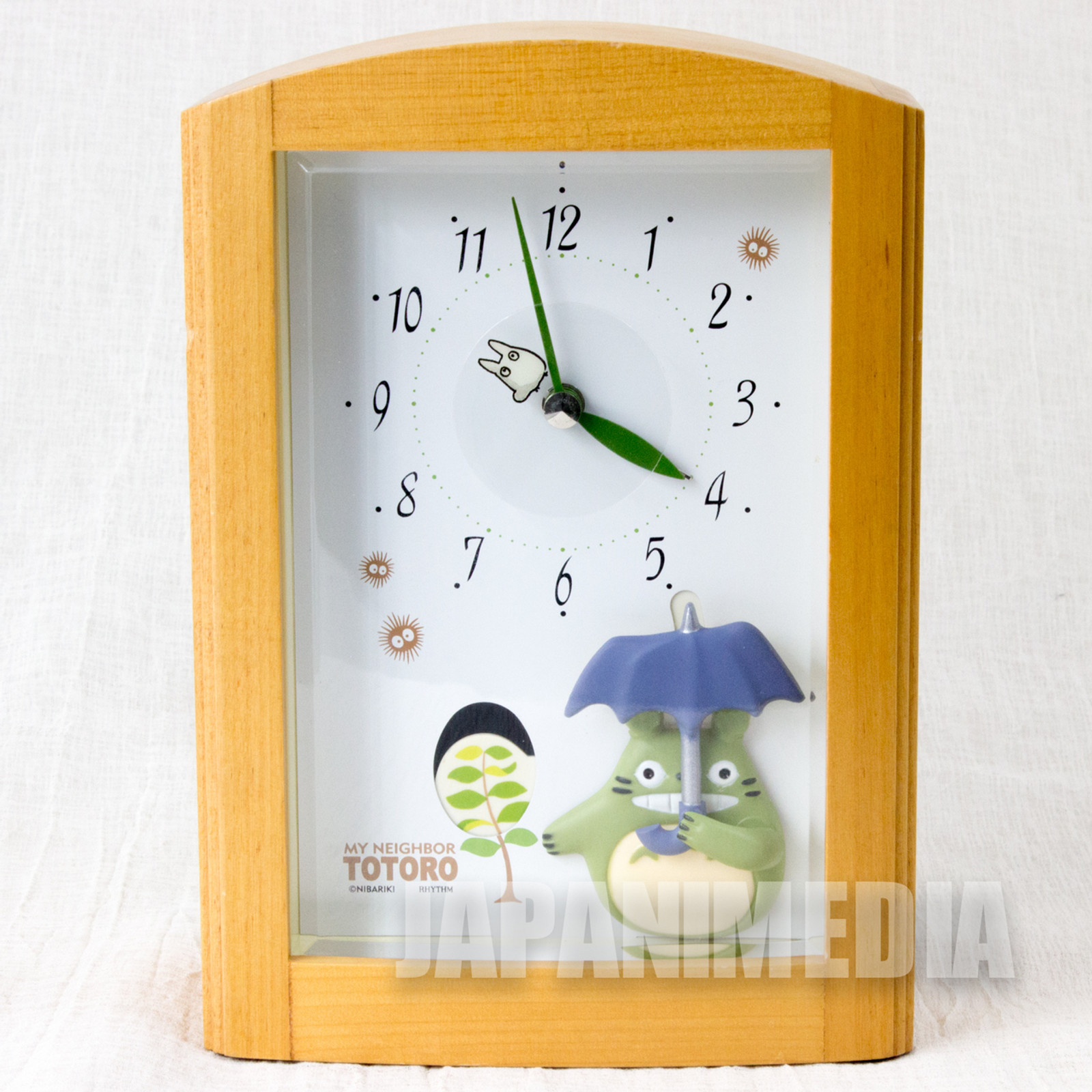 RARE! My Neighbor Totoro Desktop Alarm Clock Rhythm Nibariki Ghibli JAPAN ANIME MANGA