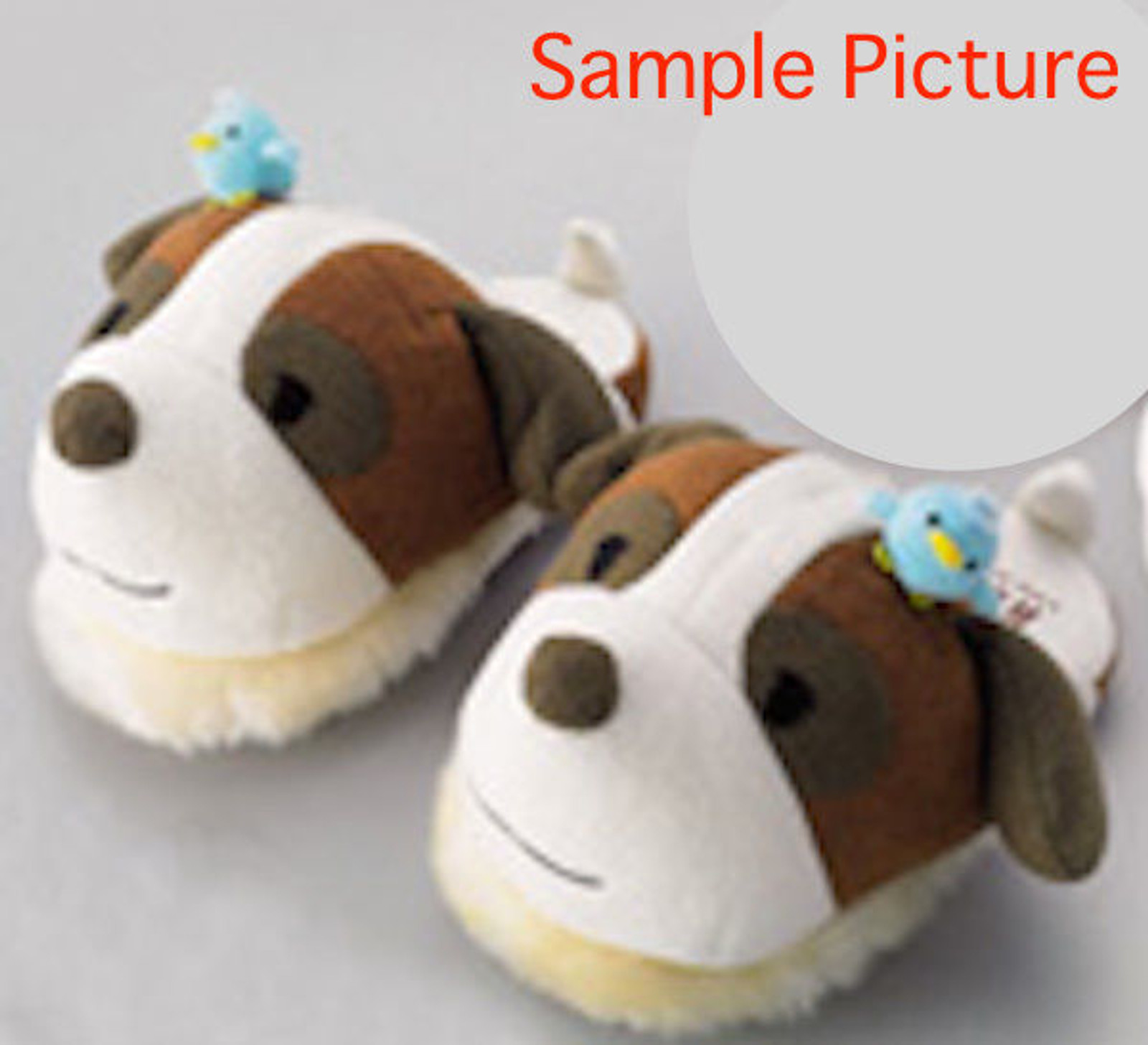 Heidi Girl of the Alps Josef Dog Pi-chan Face Plush Doll Slippers JAPAN ANIME